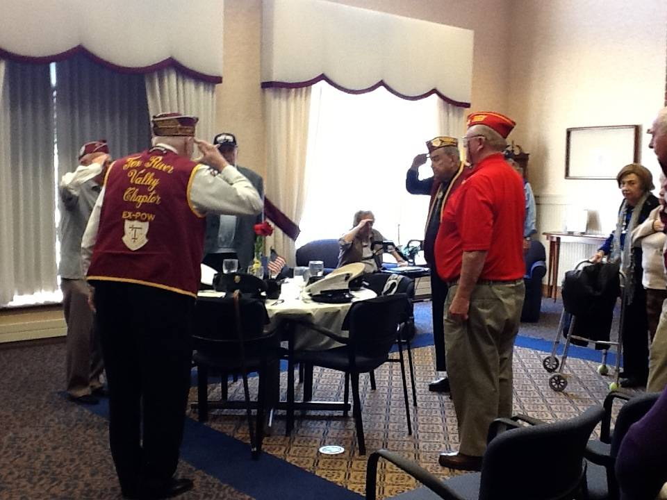 Sedgebrook Veterans salute the Empty Table to Honor POW's