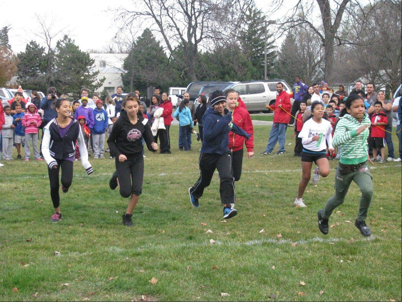The race is on at the Waukegan Park District Turkey Trot on Nov. 10.