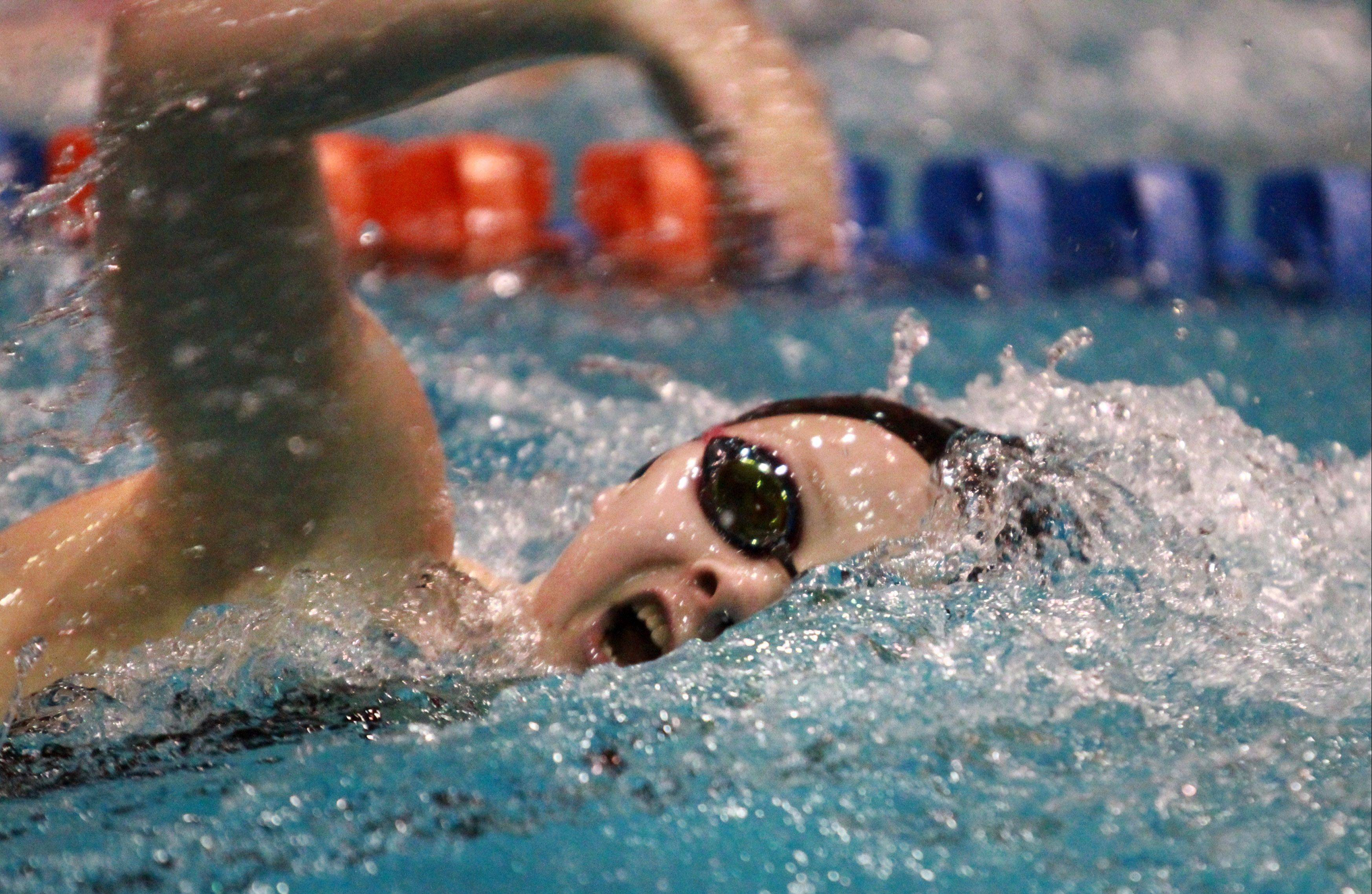 St. Charles East's Mary Snyder placed 11th in the 200-yard freestyle at the state championships in Evanston on Saturday.
