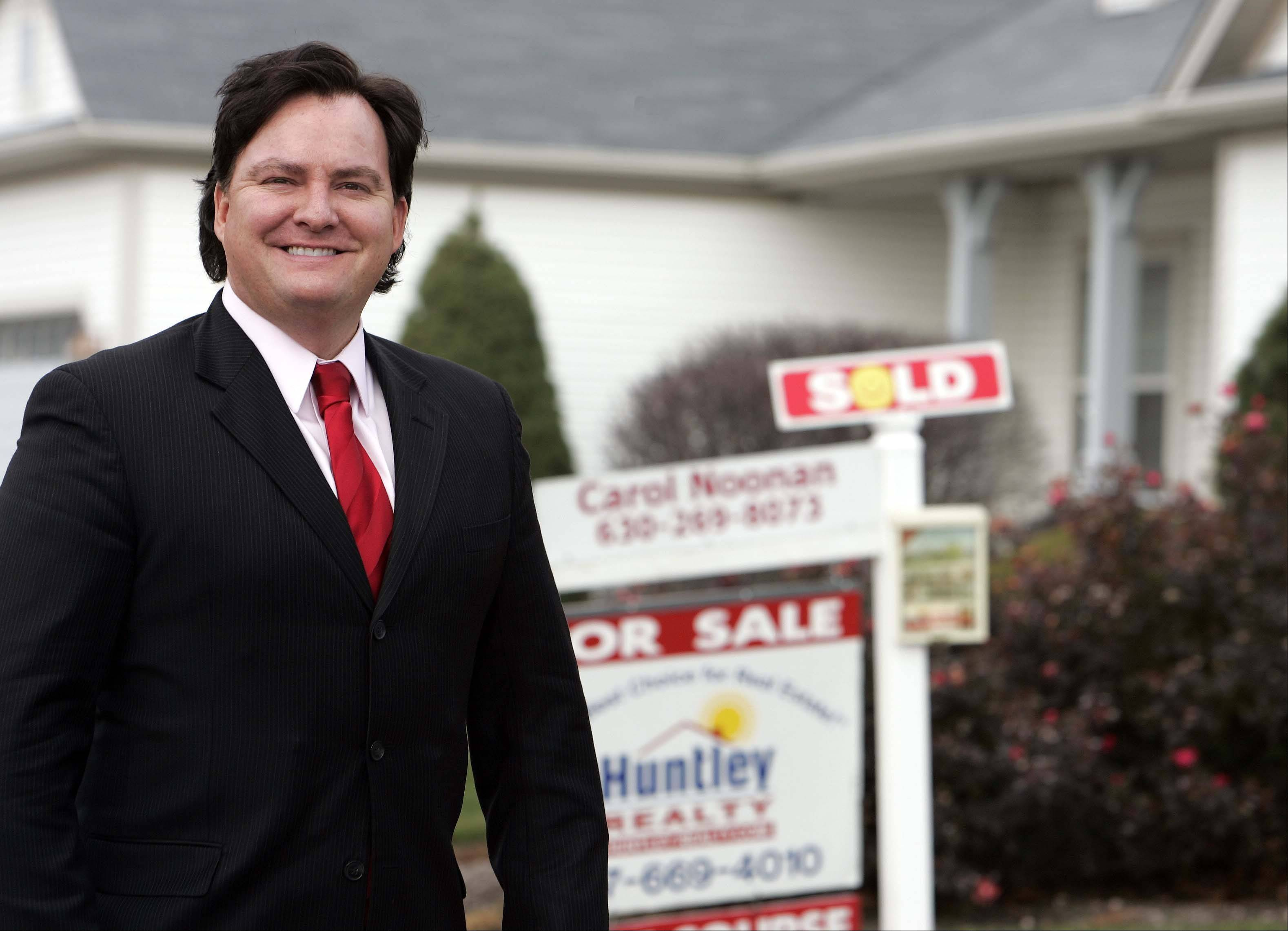 The large inventory of unsold homes in the Chicago region is shrinking, said Tom Hall, owner of Huntley Realty.