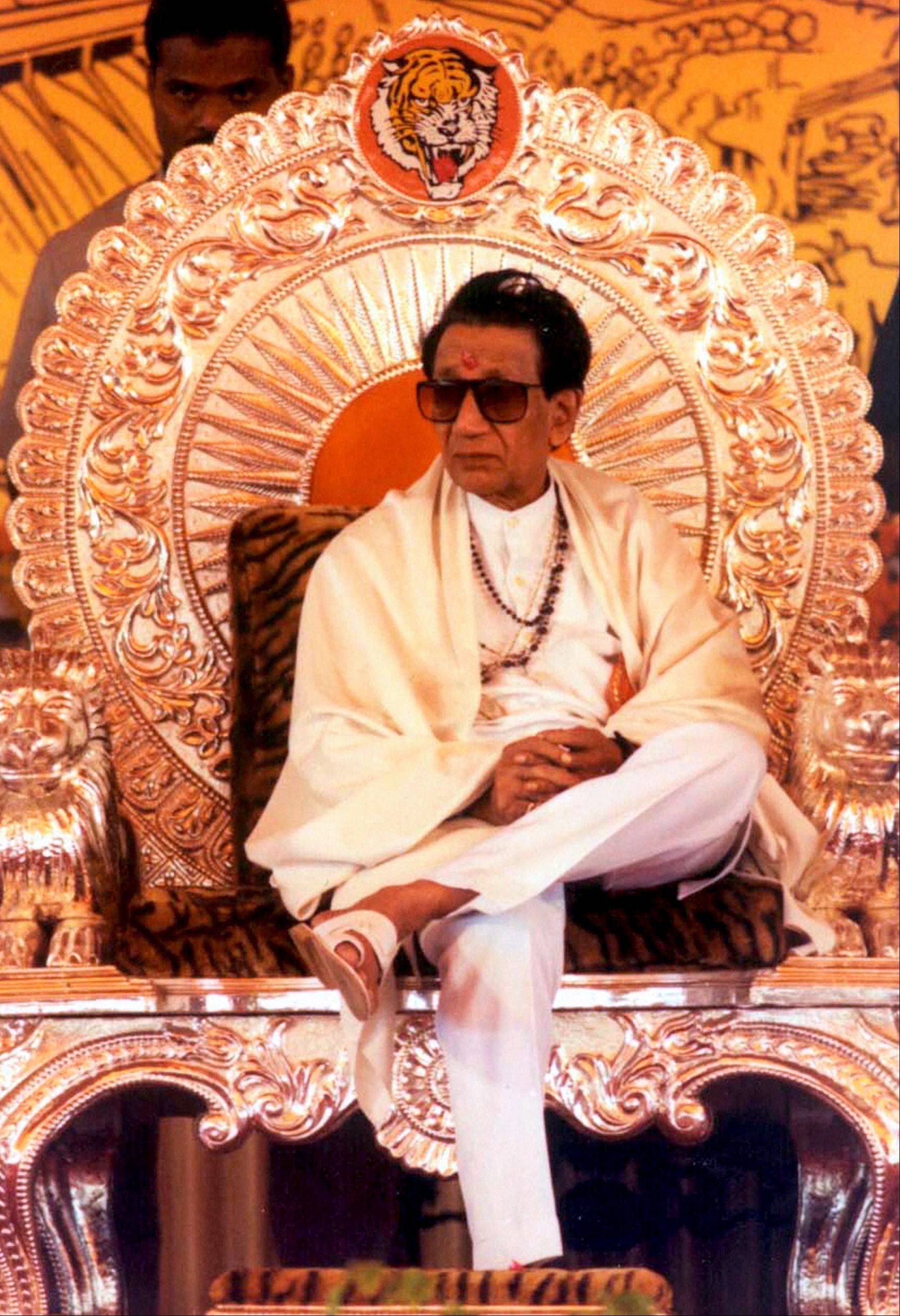 Hindu nationalist party chief Shiv Sena chief Bal Thackeray.