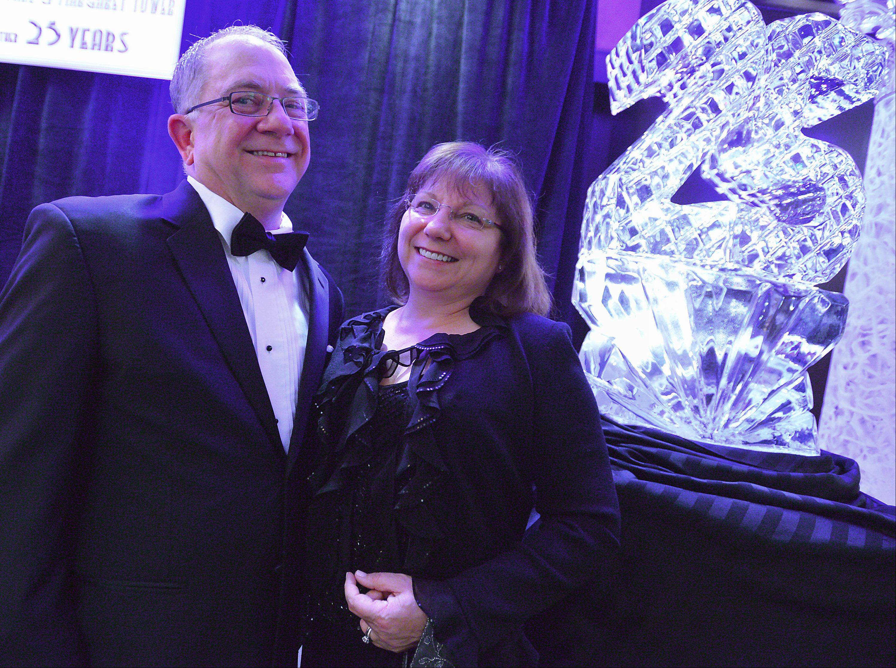 Rich and Debbie Armstrong of Palatine attended Shelter Inc.'s 25th anniversary Charity Ball on Friday night at the Schaumburg Hyatt.
