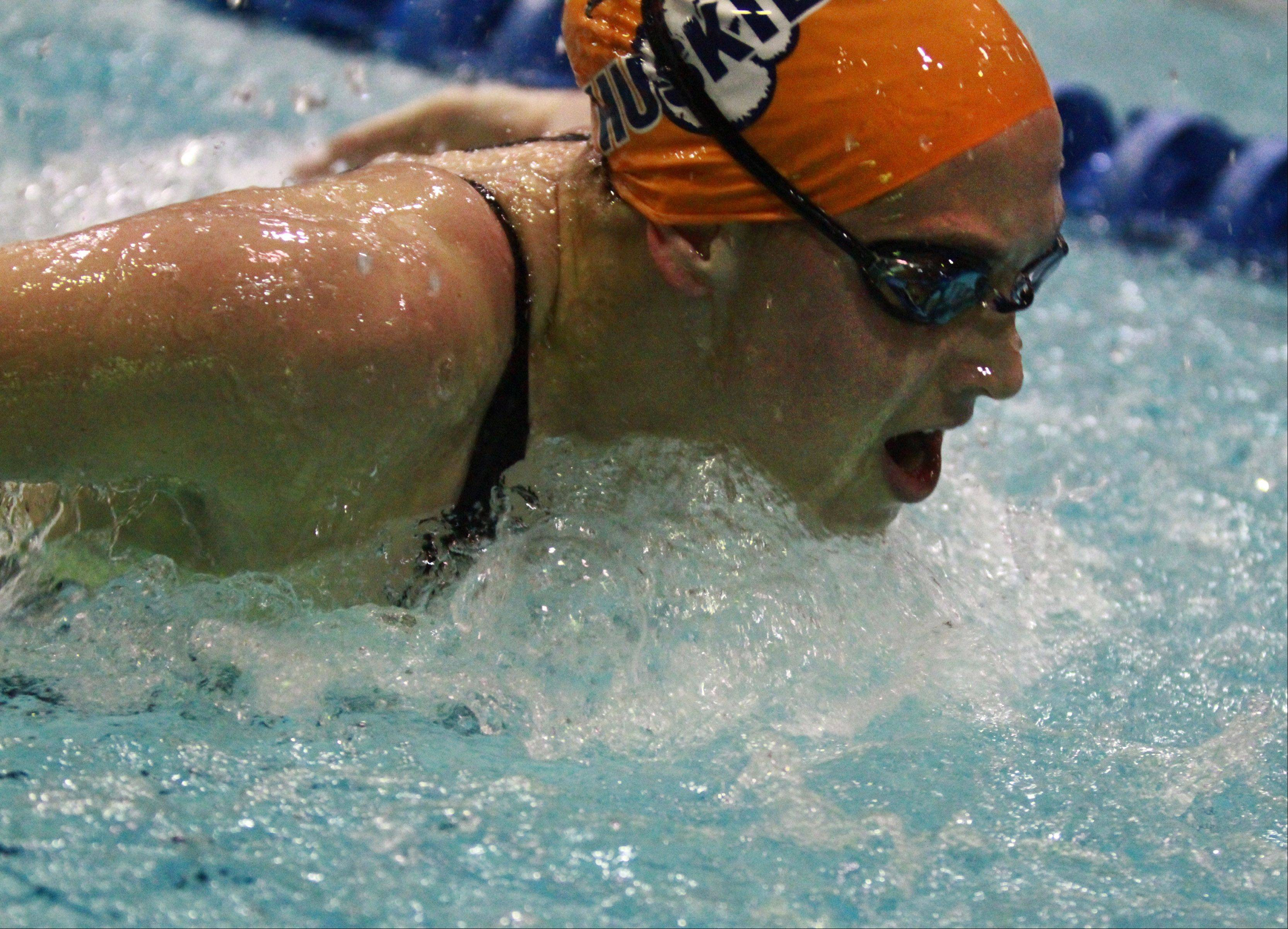 Naperville North�s Anna Williams placed seventh in the 100-yard butterfly at the IHSA state championships in Evanston on Saturday.