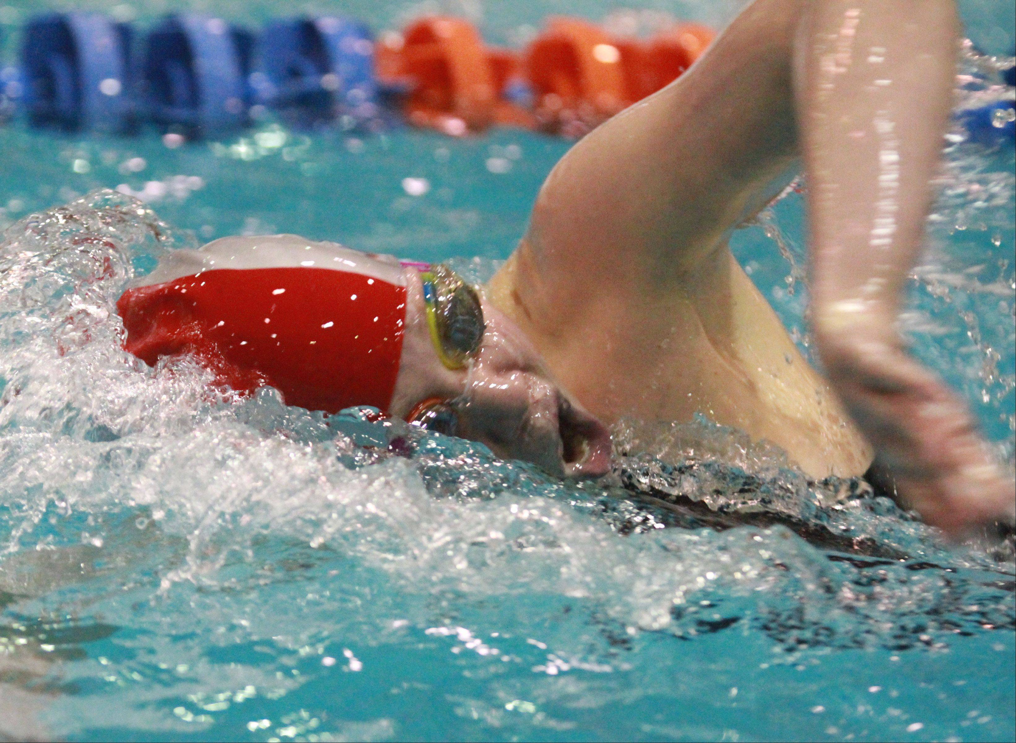 Mundelein's Erin Falconer placed fourth in the 200-yard freestyle at the IHSA state championships in Evanston on Saturday.