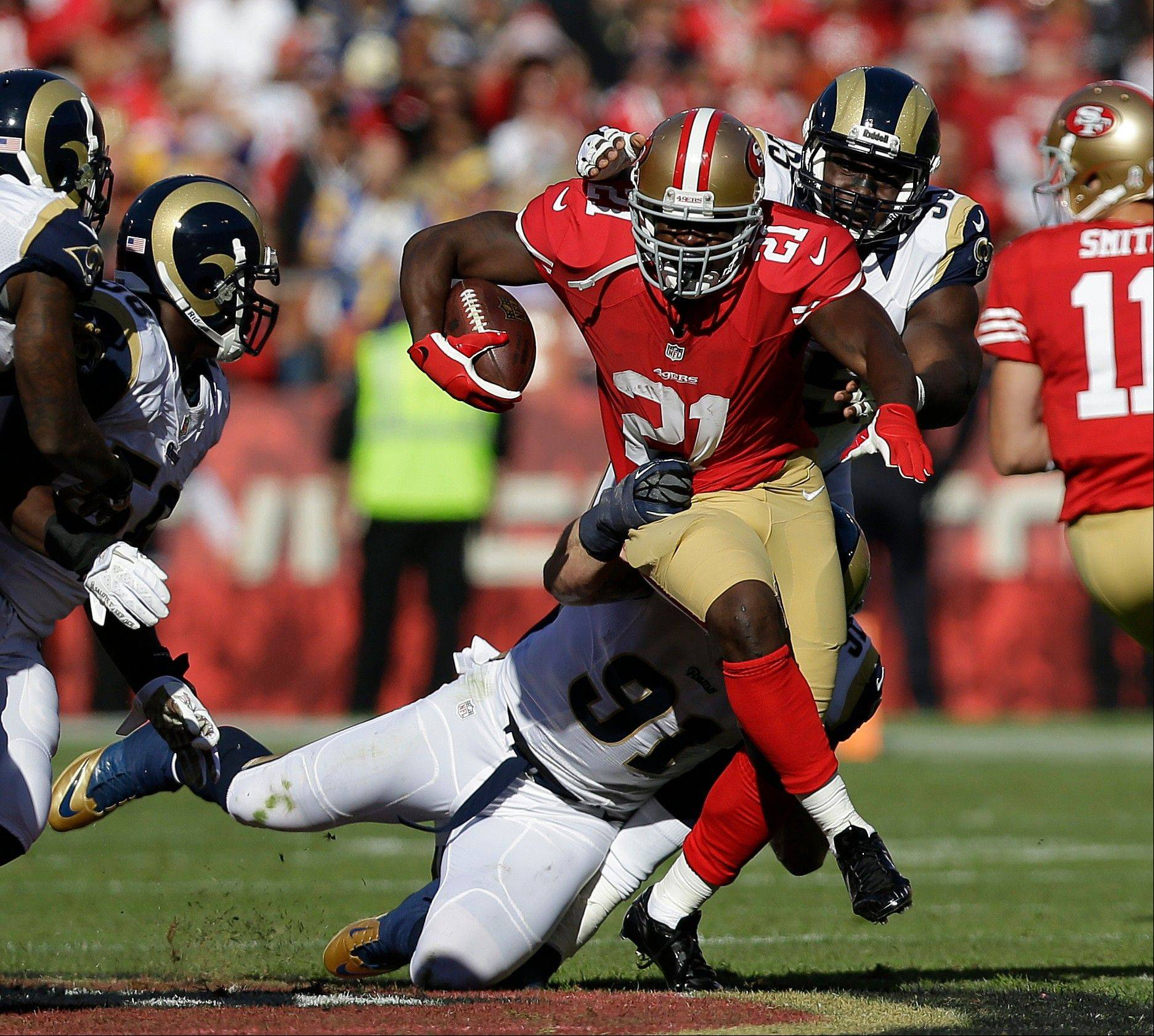 Running back Frank Gore is the engine that powers the San Francisco 49ers' offensive attack.