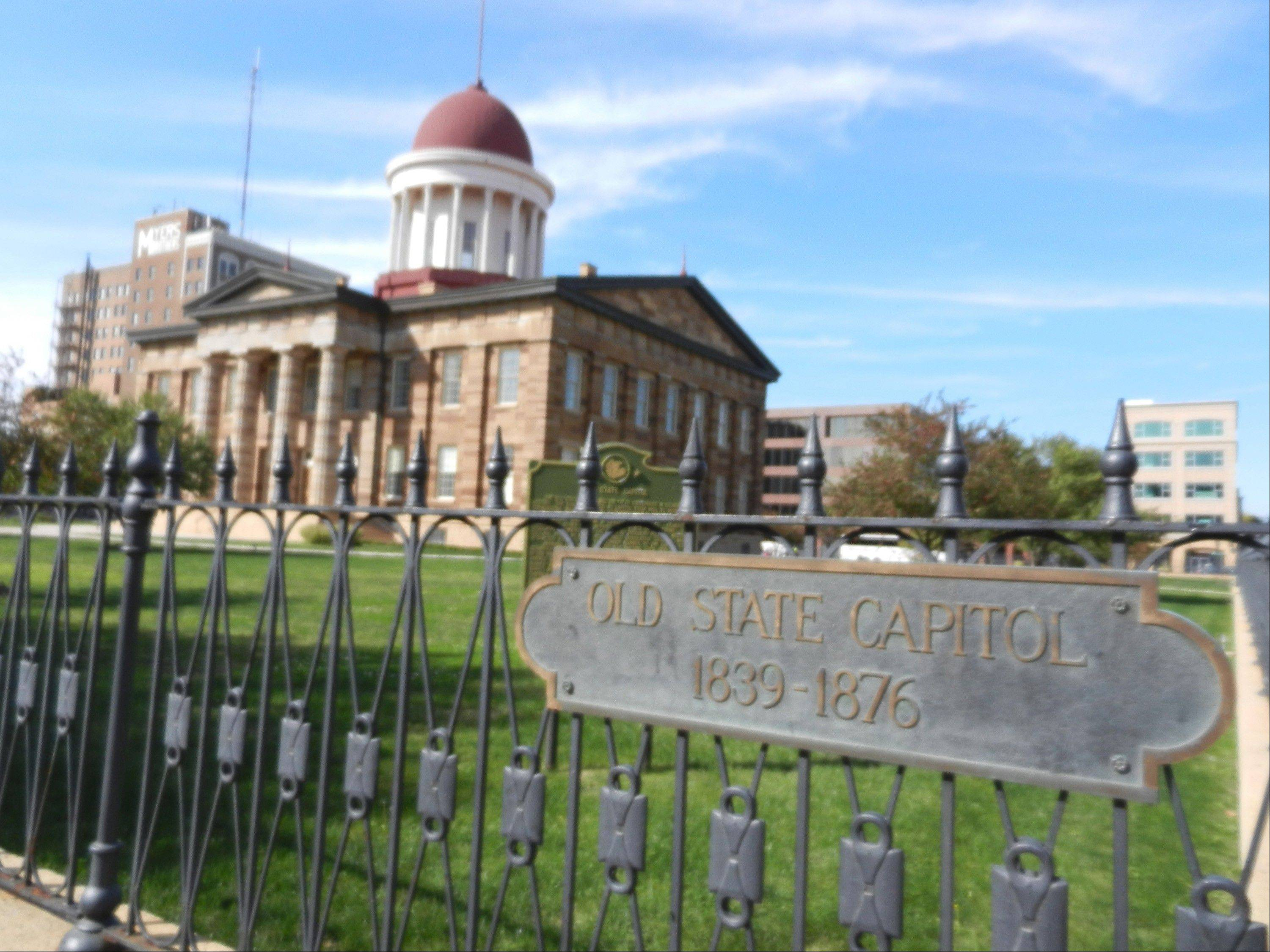 "Several Abraham Lincoln historic sites in Illinois fan out along an easy-to-navigate grid in Springfield's modest downtown. The Old State Capitol is where Lincoln served as state legislator, delivered his ""House Divided"" speech in the Senate race against Stephen Douglas and lay in state in May 1865 drawing 75,000 mourners."