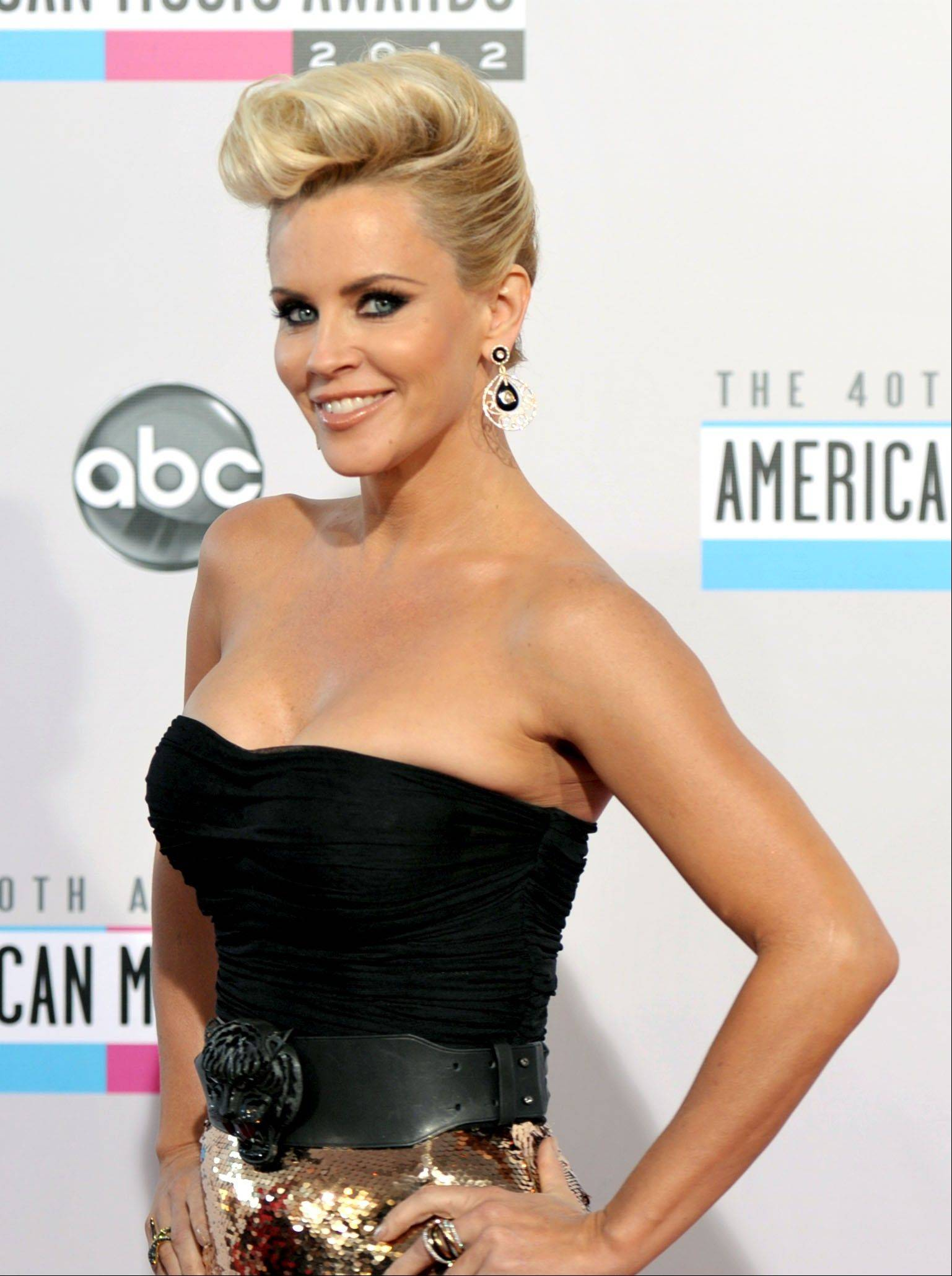 Jenny McCarthy arrives at the 40th Anniversary American Music Awards on Sunday, Nov. 18, 2012, in Los Angeles.