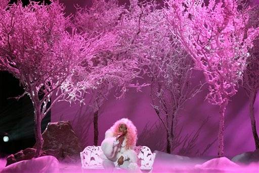 "Nicki Minaj performs ""Freedom"" during the AMAs."