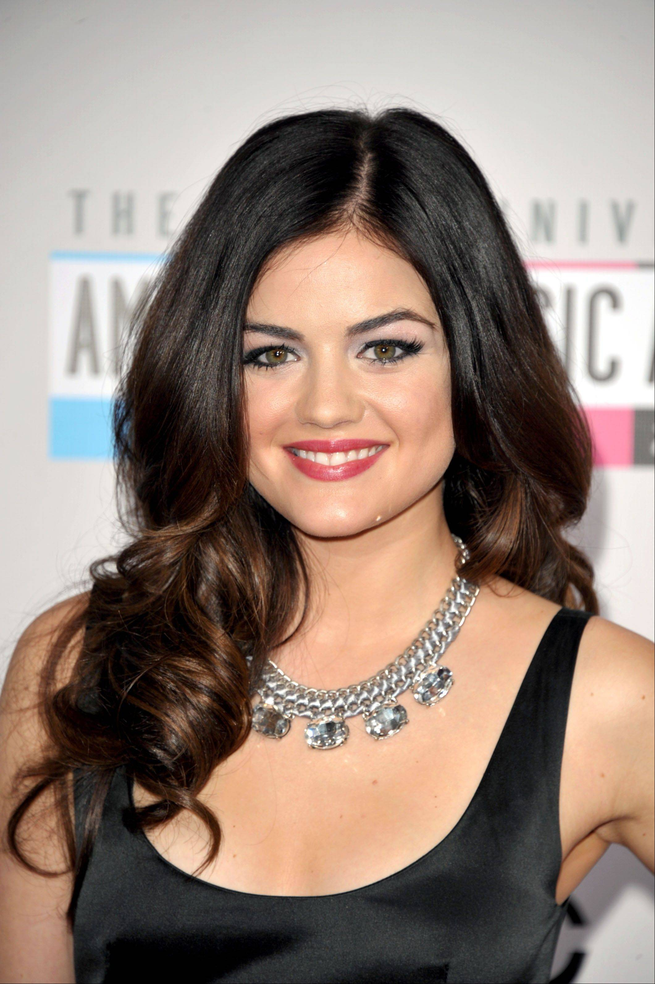 """Pretty Little Liars"" star Lucy Hale arrives at the 40th Anniversary American Music Awards."