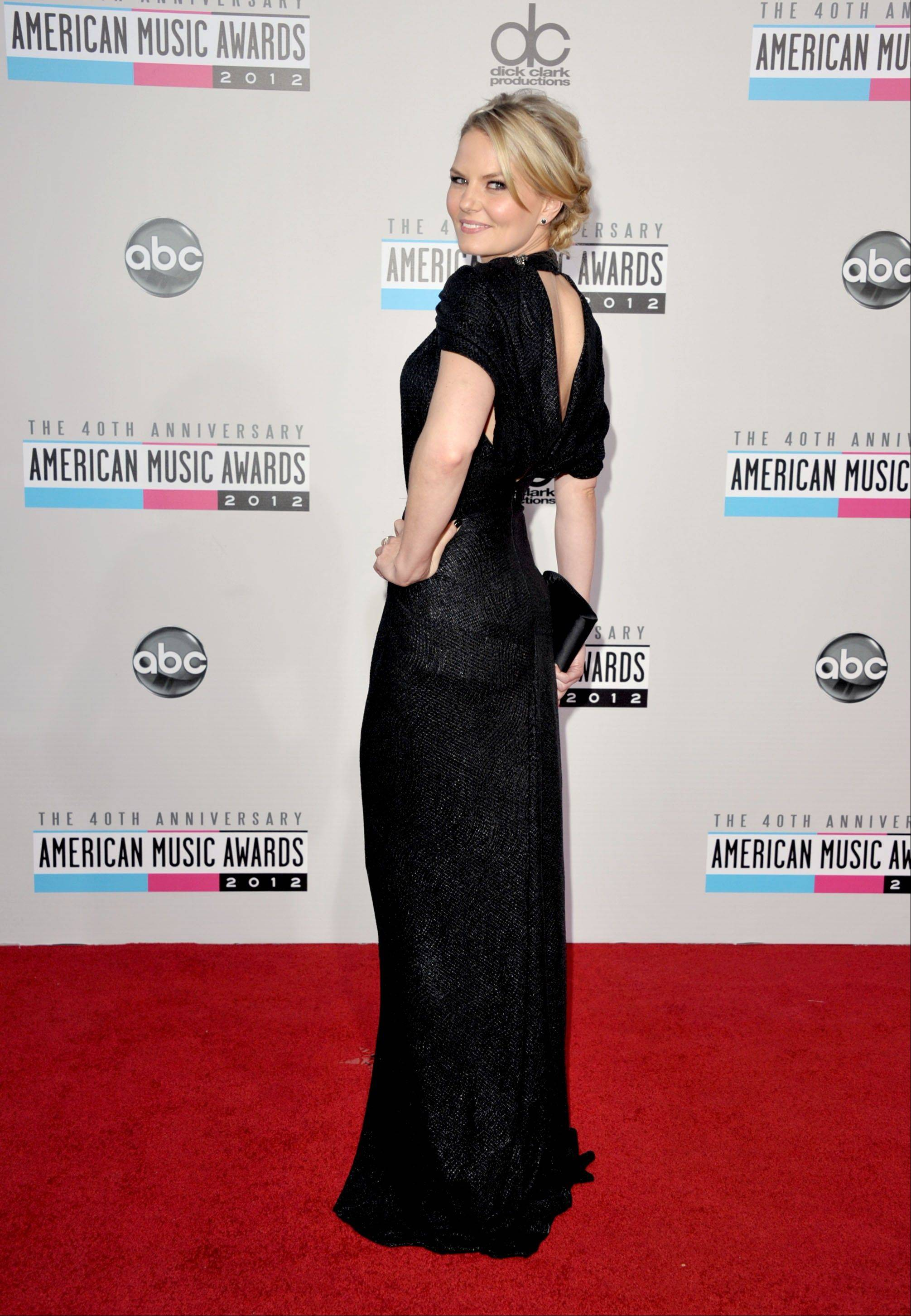 """Once Upon a Time"" star Jennifer Morrison arrives at the 40th Anniversary American Music Awards."