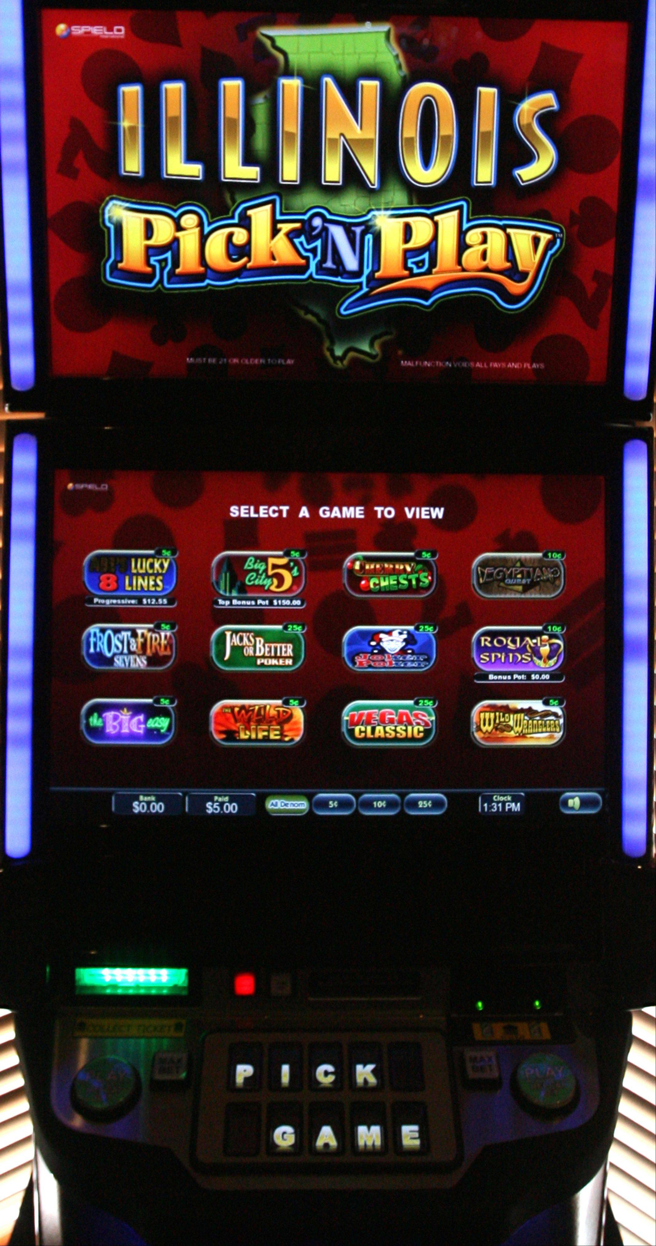Gamblers bet hundreds of thousands of dollars in the first month of operation for video gaming machines at suburban bars.