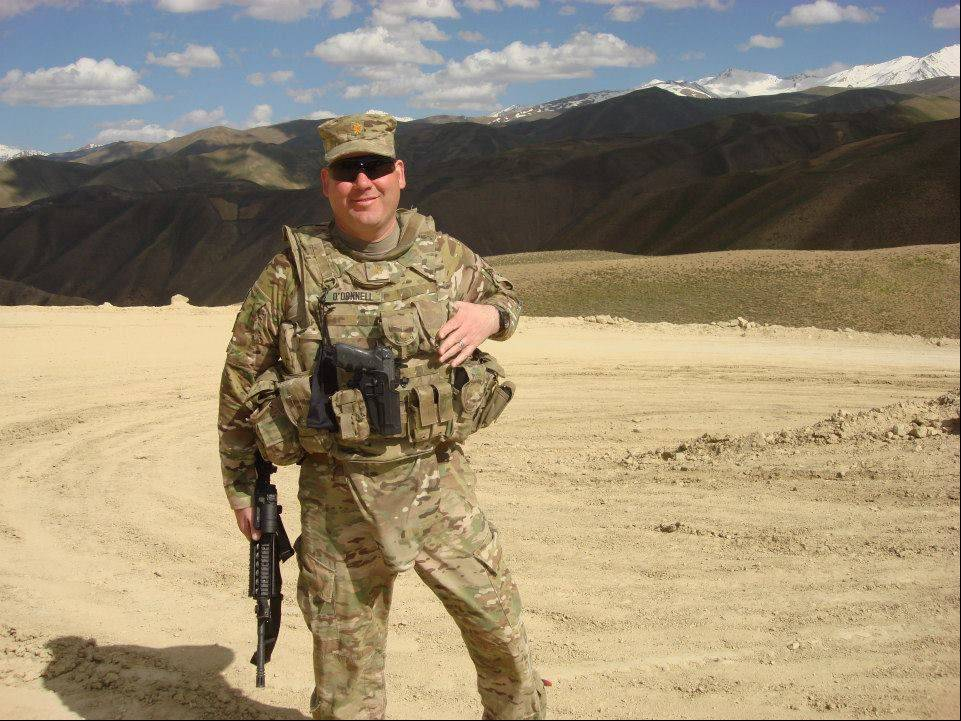 DuPage County Assistant State's Attorney Mike O'Donnell is pictured at the site of a road project in Bamyan, Afghanistan, where U.S. forces were assisting engineers with security.