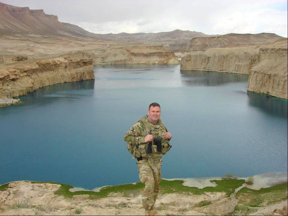 DuPage County Assistant State's Attorney Mike O'Donnell visits Afghanistan's only national park, the Band-e Amir Lakes. O'Donnell, a member of the Army Reserves, is serving his third overseas deployment in the last decade.