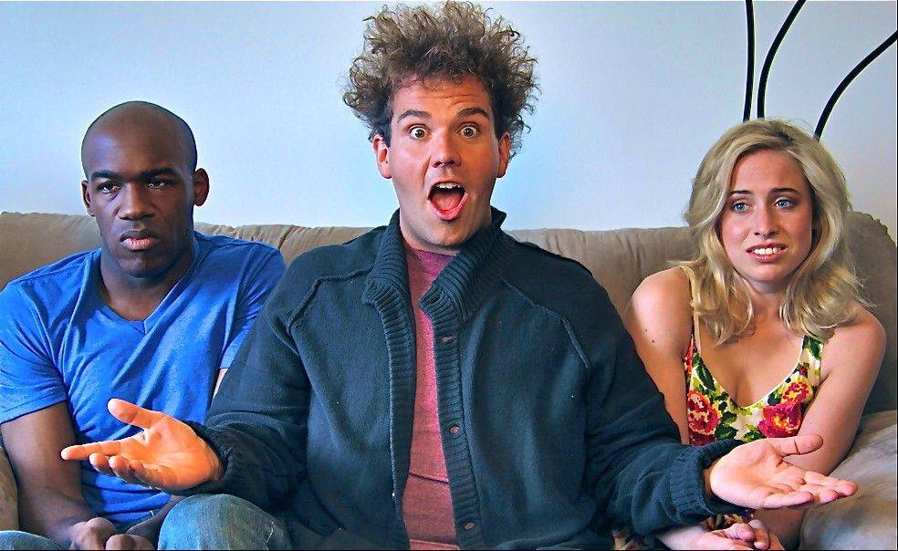Nnamdi Ngwe, left, Jake Sasseville and Molly Miller star in the loosely scripted comedy series �Delusions of Grandeur.� Sasseville had purchased eight 30-minute blocks on ABC Family to launch his series in October, but ABC declined to air it because it did not meet their standards for programming for time buy purchases. But he was able to get his series on Blip and the pilot episode debuted on Oct. 3.