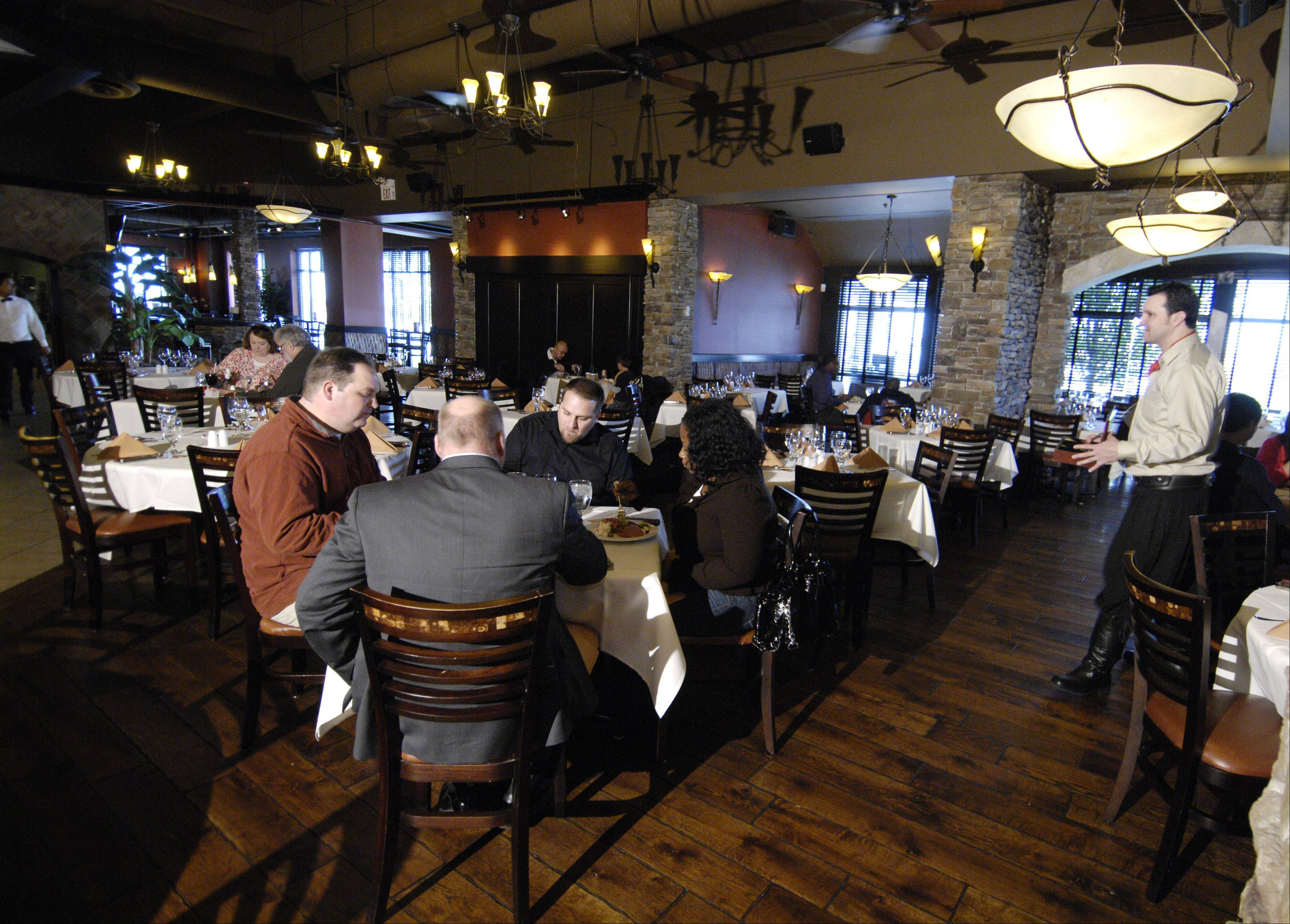 Diners fill the rooms at lunch and dinner at Chama Gaucha Brazilian steakhouse in Downers Grove.