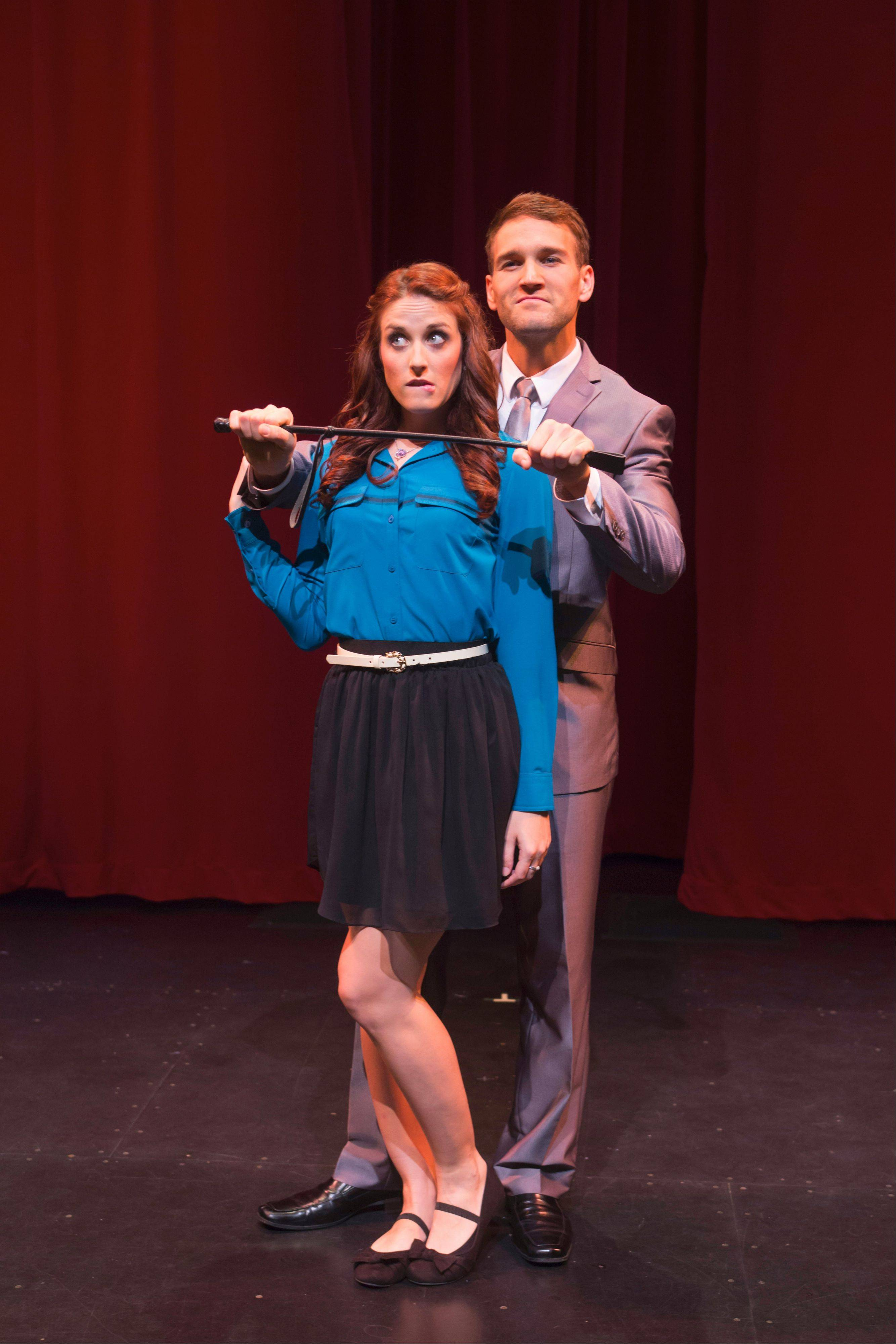 "The publishing phenomenon ""Fifty Shades of Gray"" is spoofed in the comic stage show ""SPANK! The Fifty Shades Parody"" at the Royal George Theatre in Chicago."