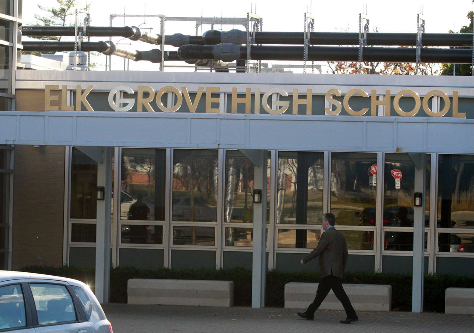 Ongoing sound abatement work, such as piping for a new air-conditioning system, will continue at Elk Grove High School next year as part of a $24 million facility improvement plan for Northwest Suburban High School District 214 schools. The plan also includes pool reconstruction at Buffalo Grove High School.