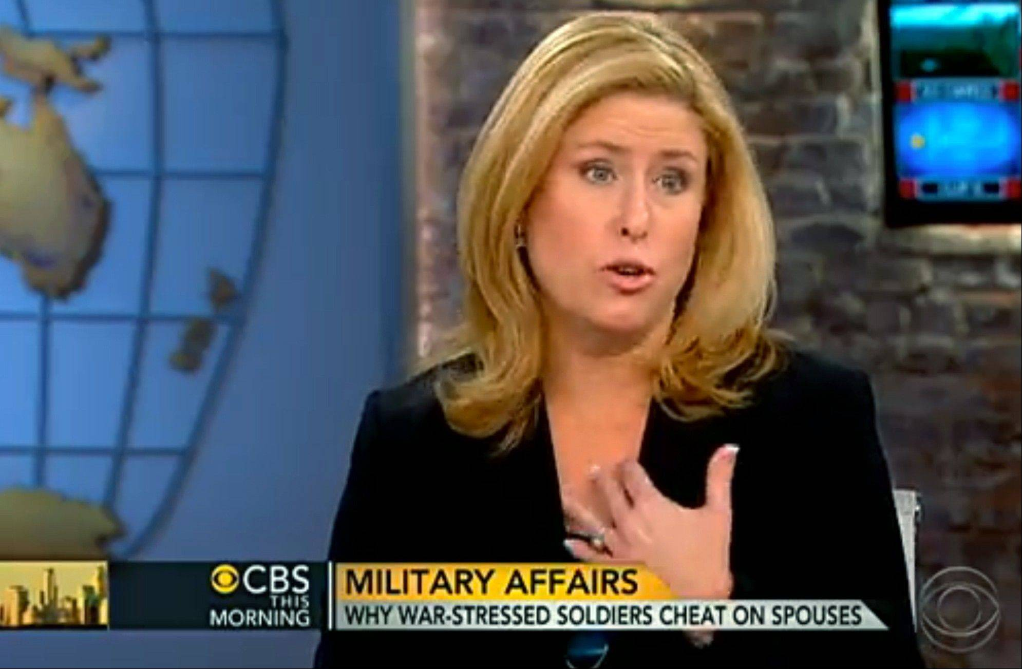 "Rebecca Sinclair, wife of Brig. Gen. Jeffrey Sinclair, appeared on CBS ""This Morning"" to address the sexual misconduct charges against her husband, Brig. Gen. Jeffrey Sinclair, and to stir a broader look at often taboo subjects in military marriages: adultery, the strain of separation and the stress of war."