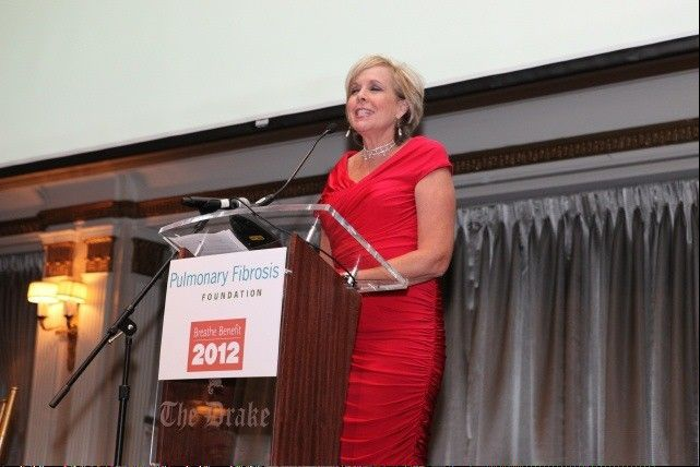 Mary Ann Ahern, whose father-in-law succumbed to pulmonary fibrosis, was the keynote speaker at the Breathe Benefit.