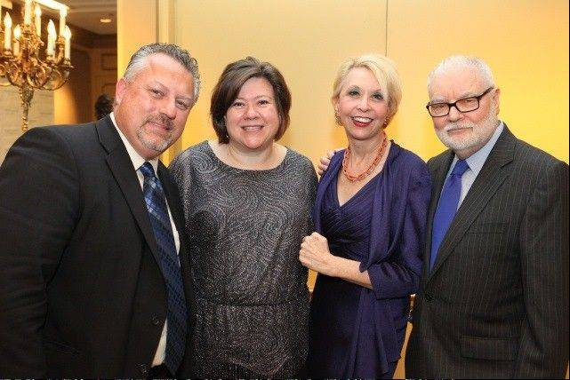 From left, Marc and Jennifer Bulandr of Barrington Hills; actress Julie Halston and her husband, Ralph Howard, a pulmonary fibrosis patient and lung transplant recipient.