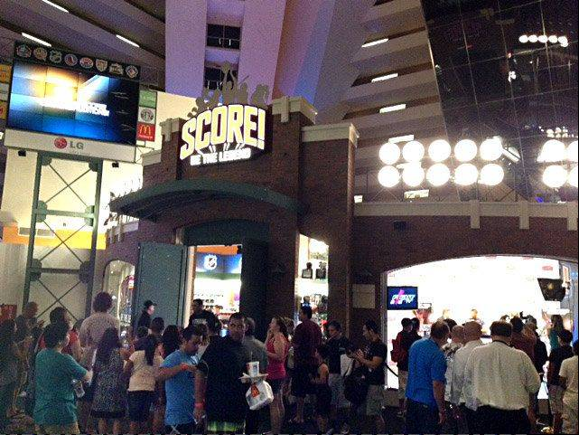 "Located near the food court at the famed Luxor hotel complex, the ""Score! Be the Legend"" entrance will be home to a Hall of Fame experience and live radio shows for visitors to enjoy."