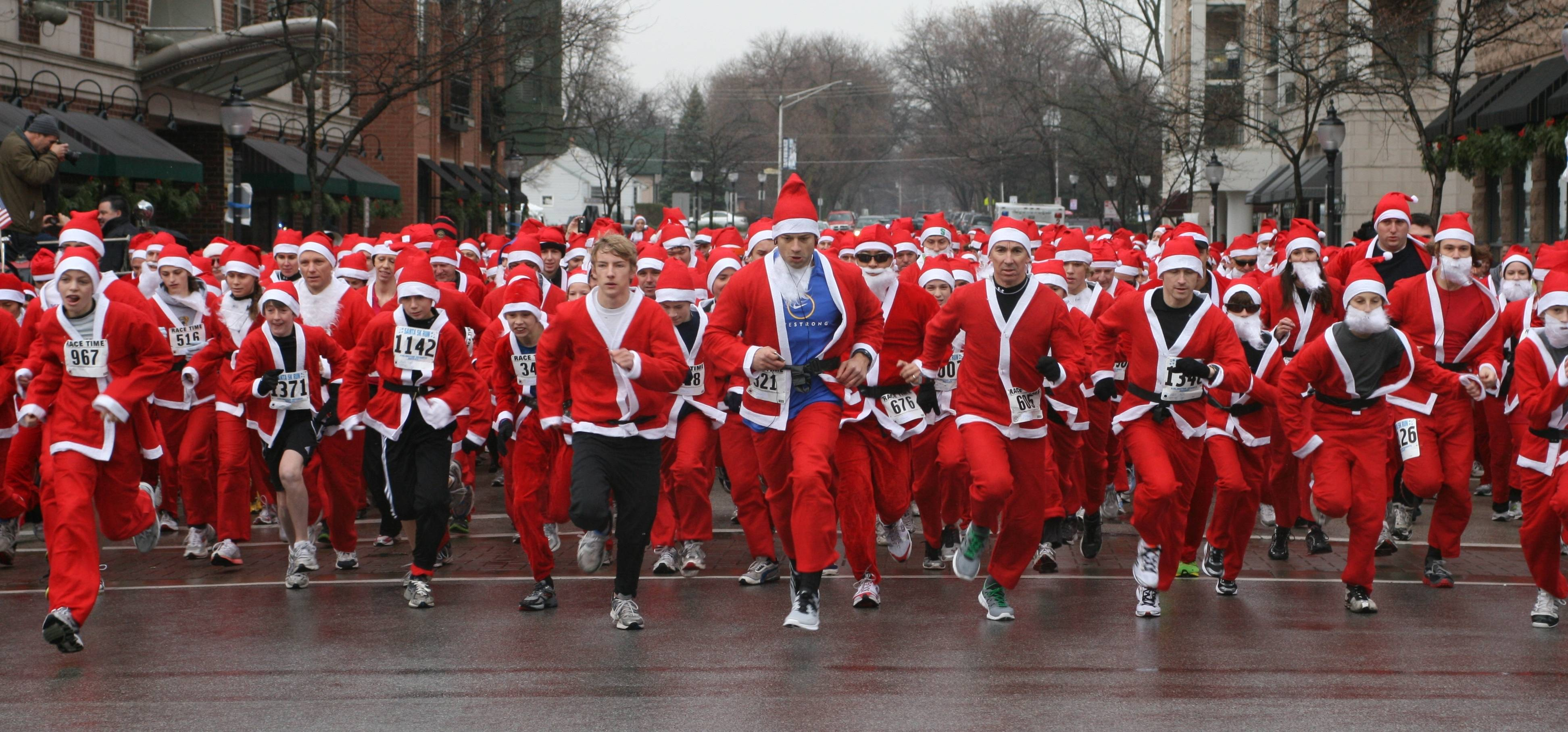 And they're off! Downtown Arlington Heights will be filled with people dressed in Santa suits for the Rotary Santa Run on December 1. The Rotary Club of Arlington Heights will be hosting the event. Register at www.rotarysantarun.org to be a part of the fun.