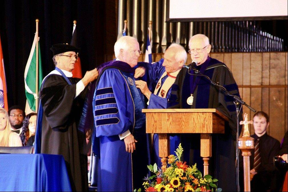 William M.B. Fleming Jr., president of Palm Beach Atlantic University in Florida, was awarded an honorary doctorate during Judson University's 49th Founders' Day on Oct. 26.