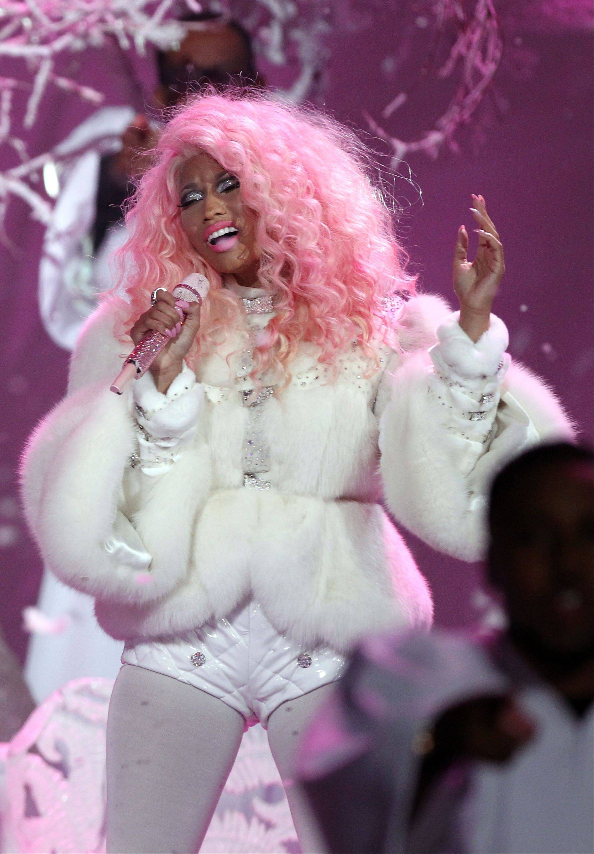 Nicki Minaj performs at the 40th Anniversary American Music Awards on Sunday.