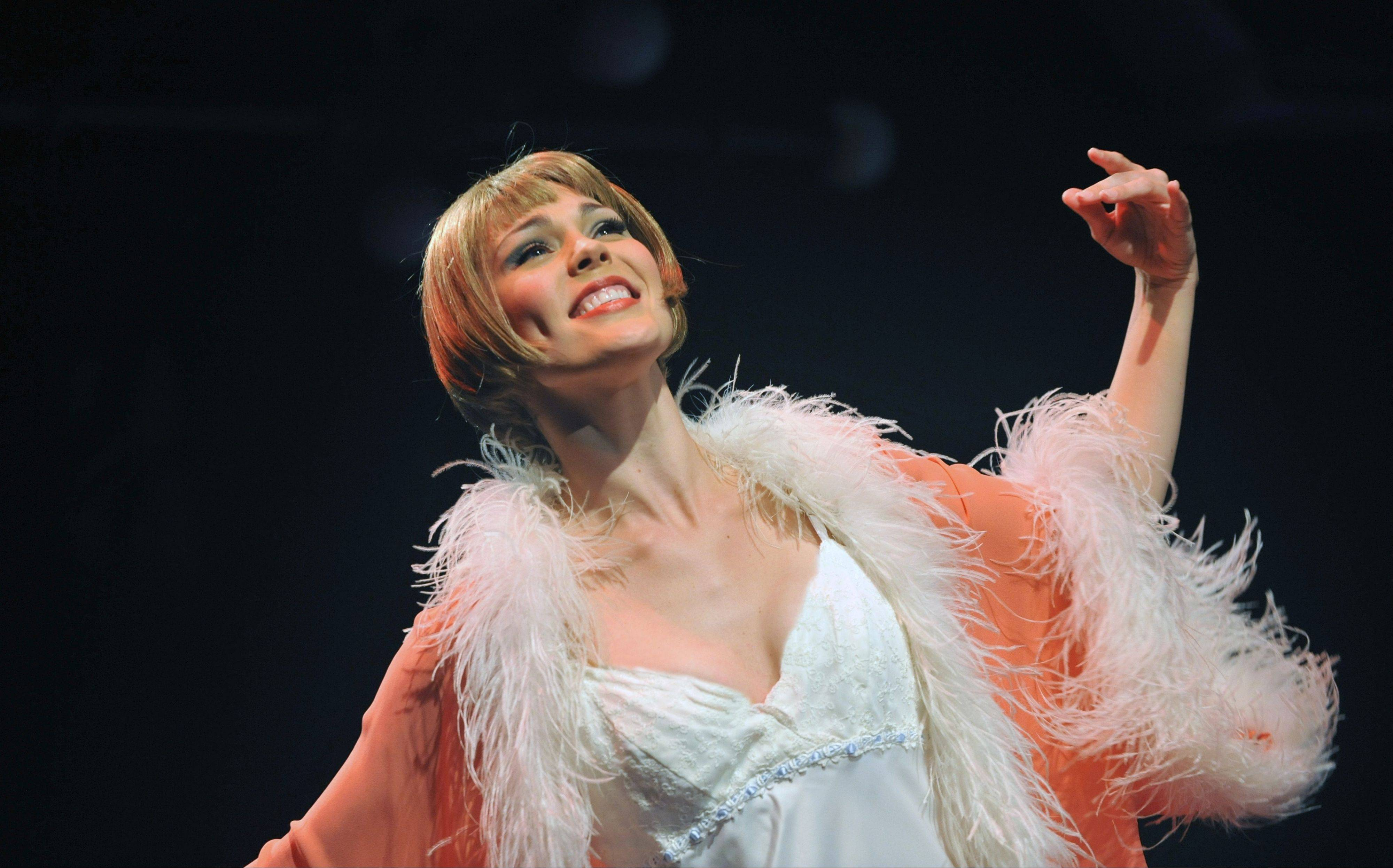 "The winsome Summer Naomi Smart stars as Edythe Herbert, an English Channel swimmer turned celebrity, in the Gershwin jukebox musical ""My One and Only"" at Marriott Theatre in Lincolnshire."