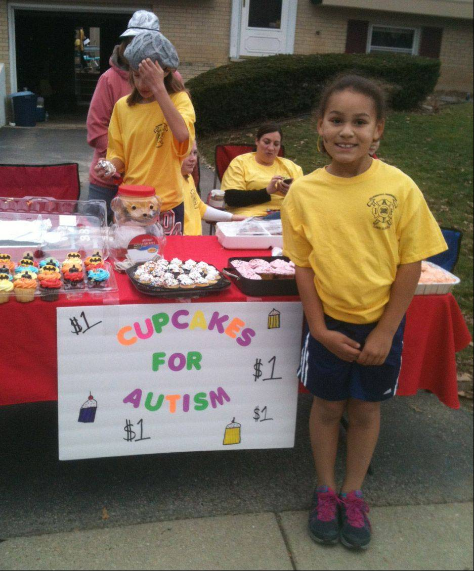 Emmy Parchment and other children in Lake Zurich recently sold cupcakes and raised more than $400 for the Chicago Education Project in Hoffman Estates, which is attended by 10-year-old neighbor Harrison Brodeur. The nonprofit organization provides clinical and school-based services for children with autism spectrum disorders and related disabilities.