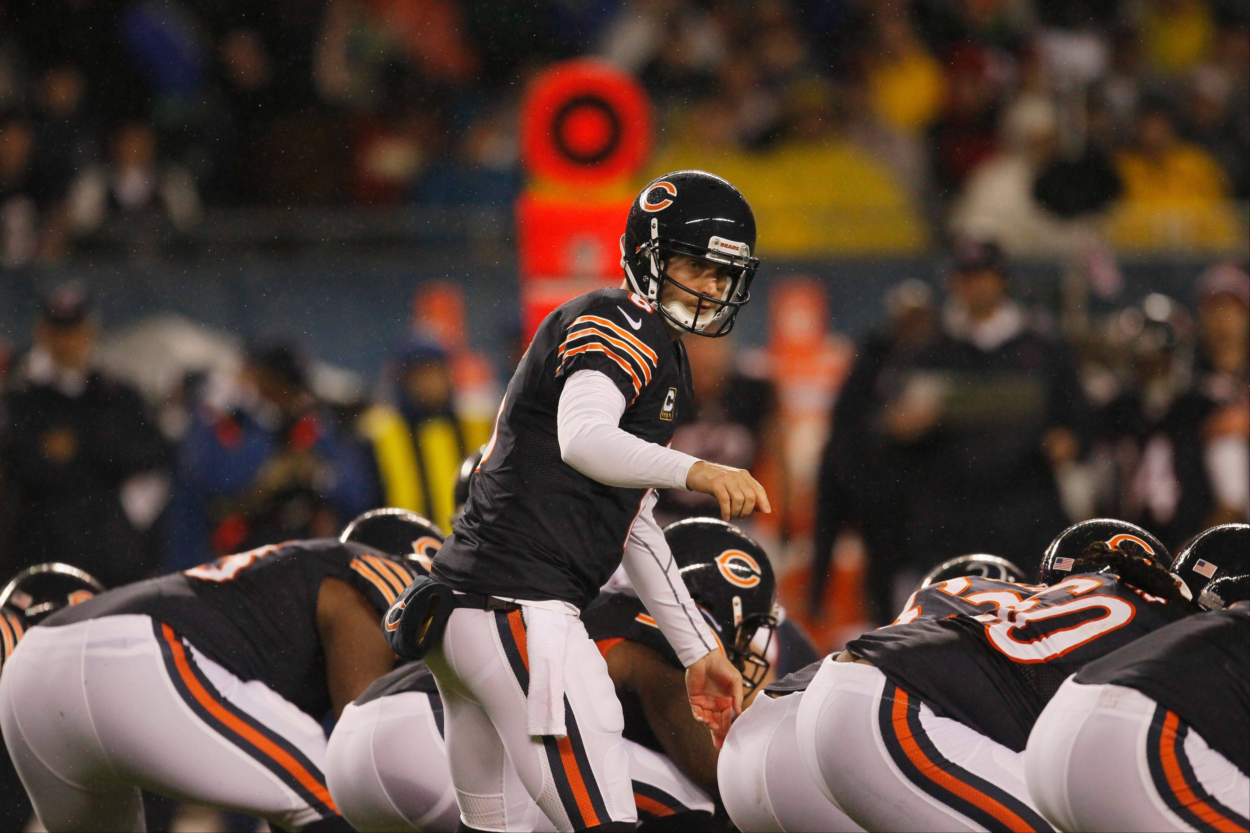 Whether its Jay Cutler under center against the Vikings on Sunday or not, the Bears offensive line has to find a way to protect the quarterback.