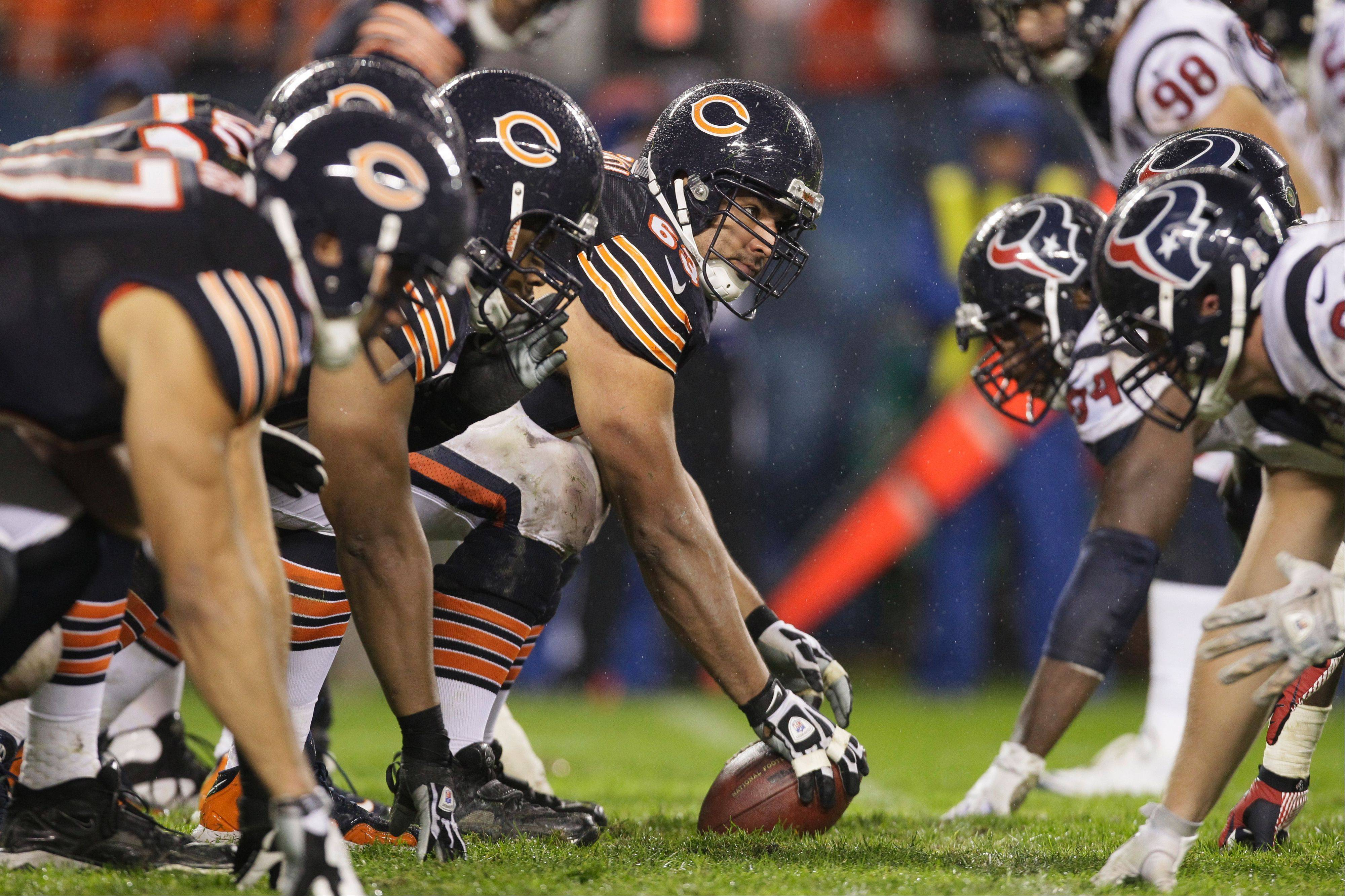 Bears center Roberto Garza could be the only offensive lineman who is safe from a possible position change. Offensive coordinator Mike Tice said the team is considering all options to get improved play from the line.