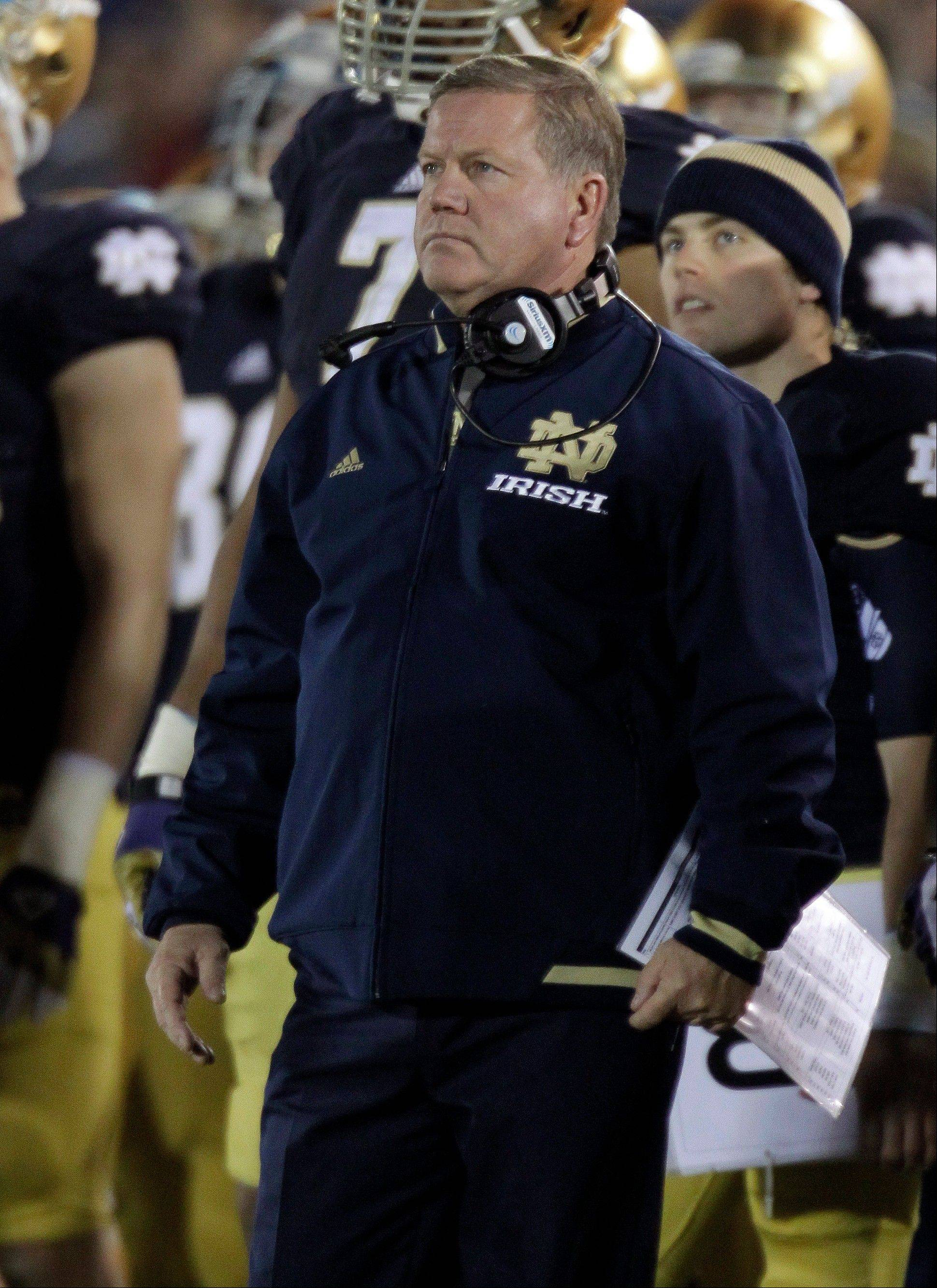 Notre Dame coach Brian Kelly doesn't have to make any apologies for why his team is at the top of college football.