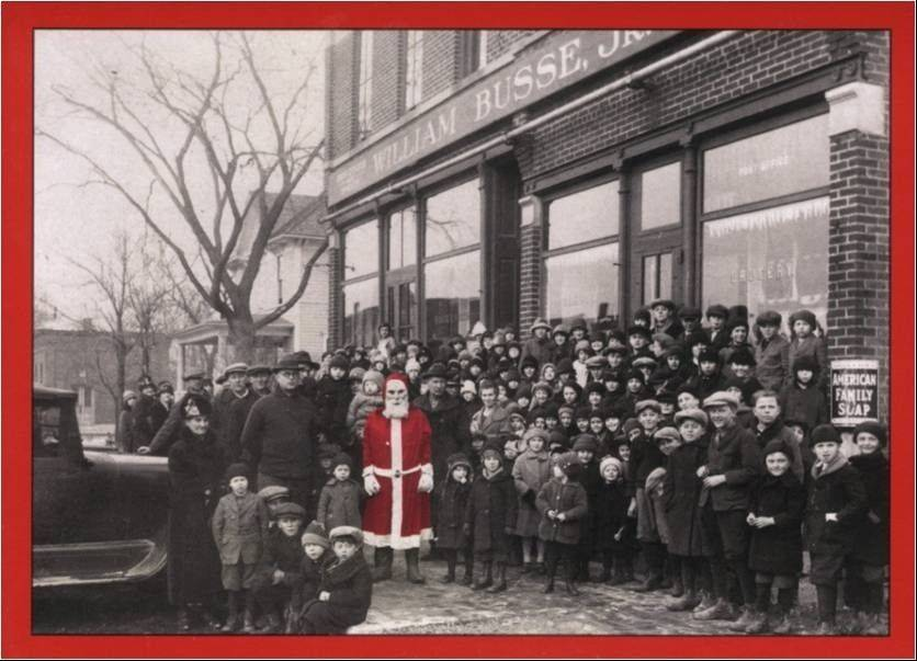 The sale of this vintage holiday card is being offered by the mount prospect historical society