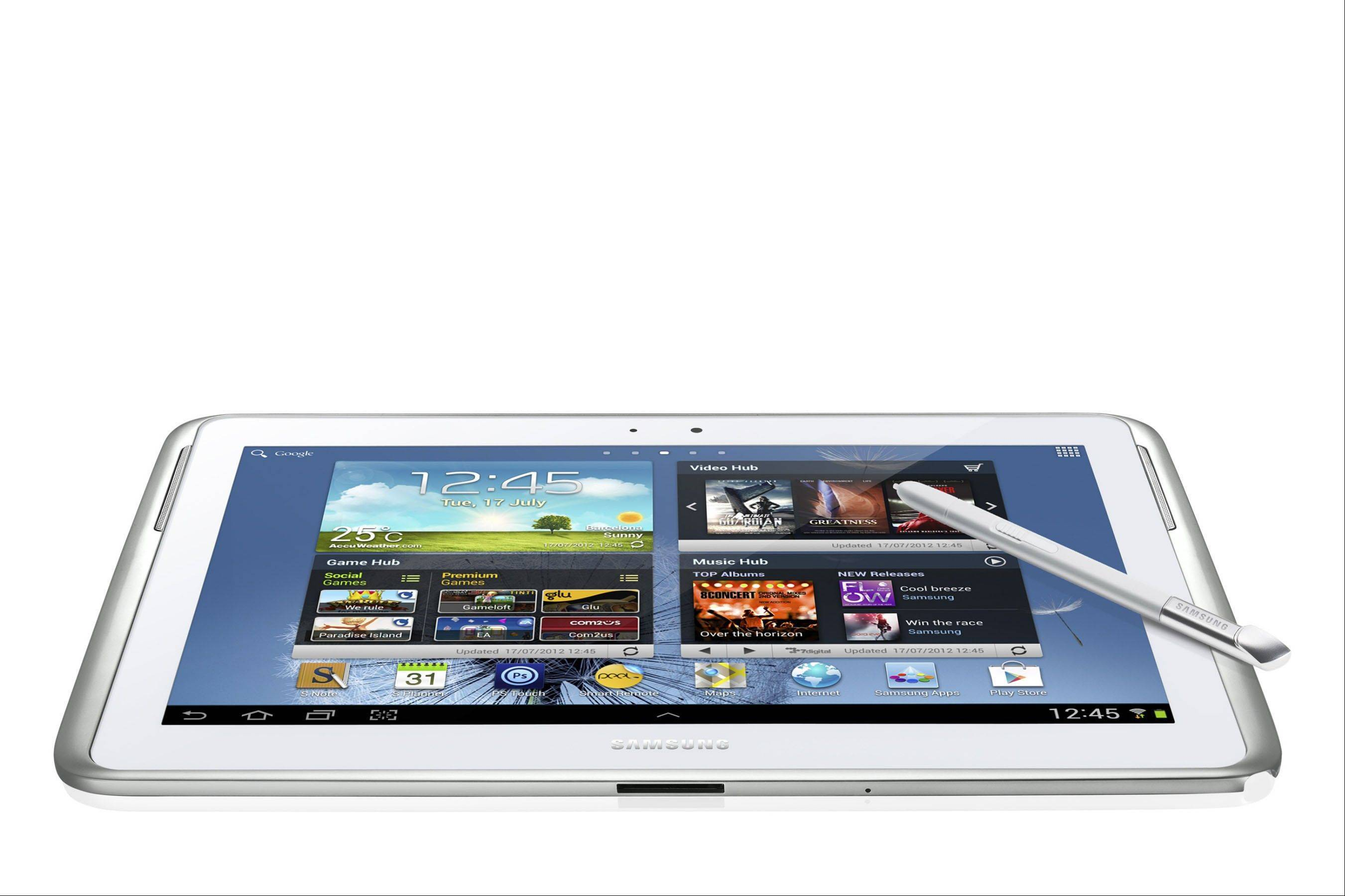 The Galaxy Note 10.1 is for the creative type. It�s the only tablet in our roundup that comes with a �pen� that can be used to write and draw on the screen.