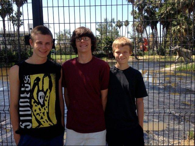 While they all have different reasons for appreciating the La Brea Tar Pits, Ross, Ben and Will smile about this tourist stop during our Los Angeles vacation.