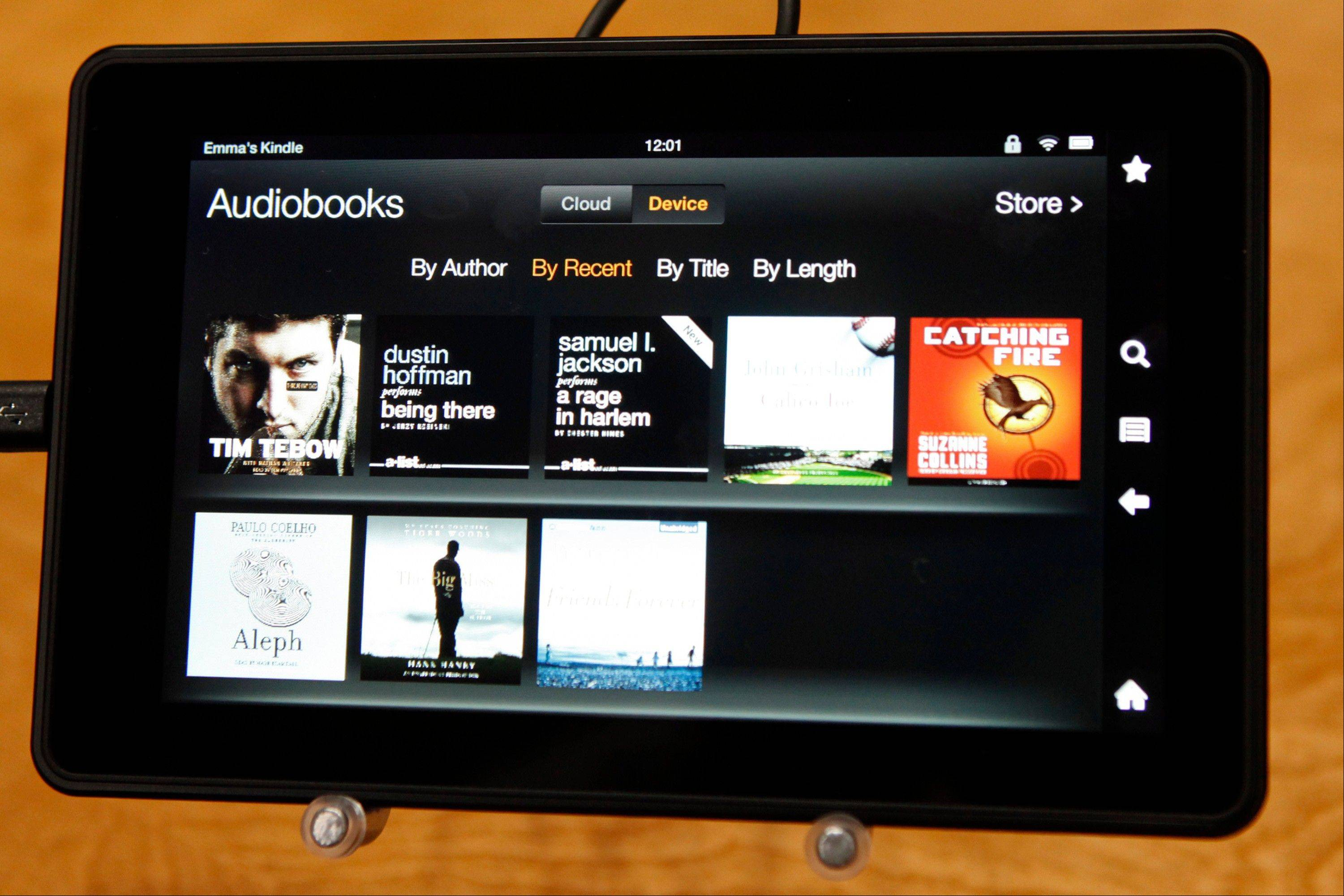 Amazon.com Inc.'s Kindle Fire HD tablet.