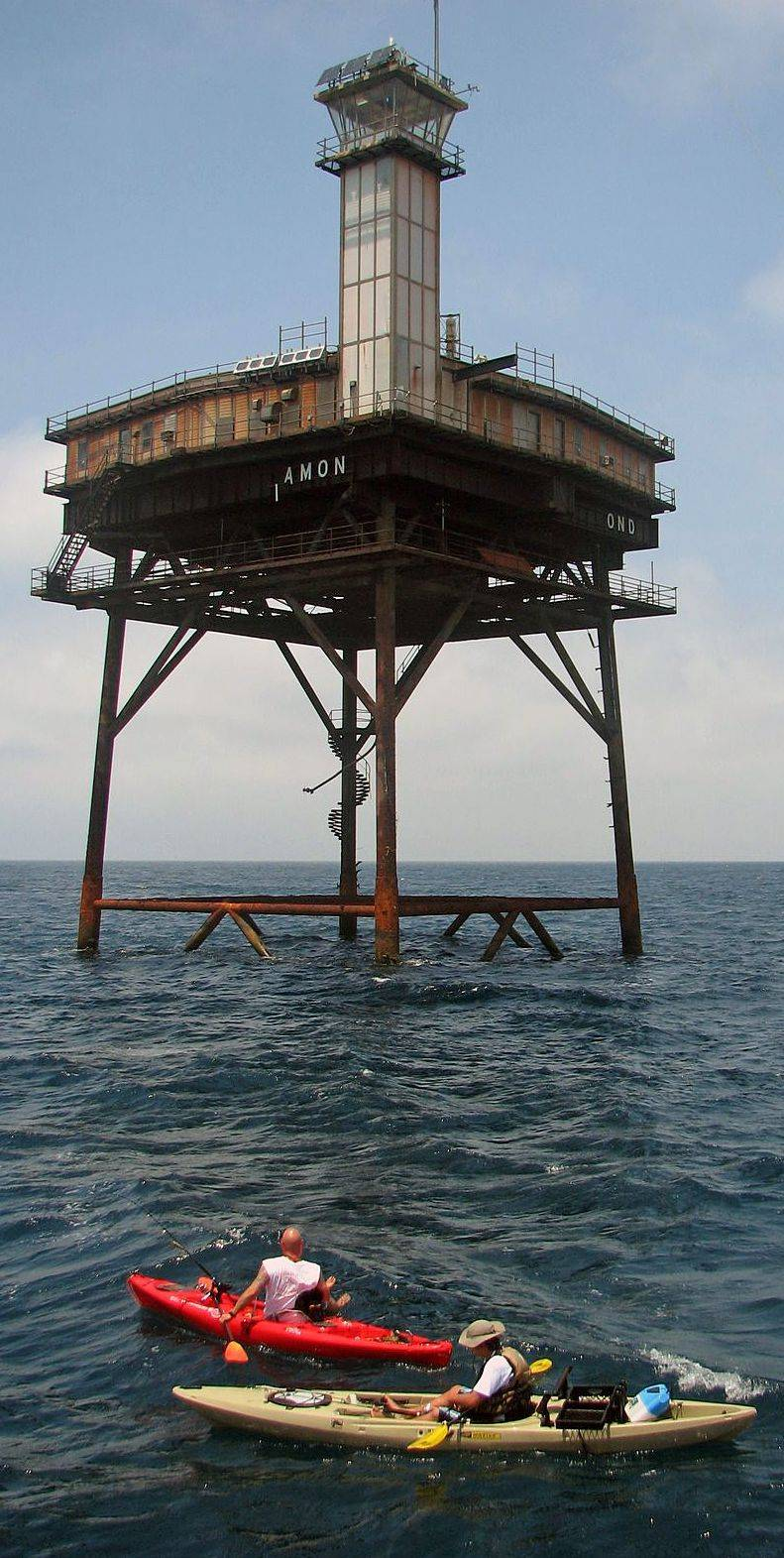 The Diamond Shoals Light Tower, located 13 miles off Cape Hatteras, N.C., was purchased from the federal government for $20,000.
