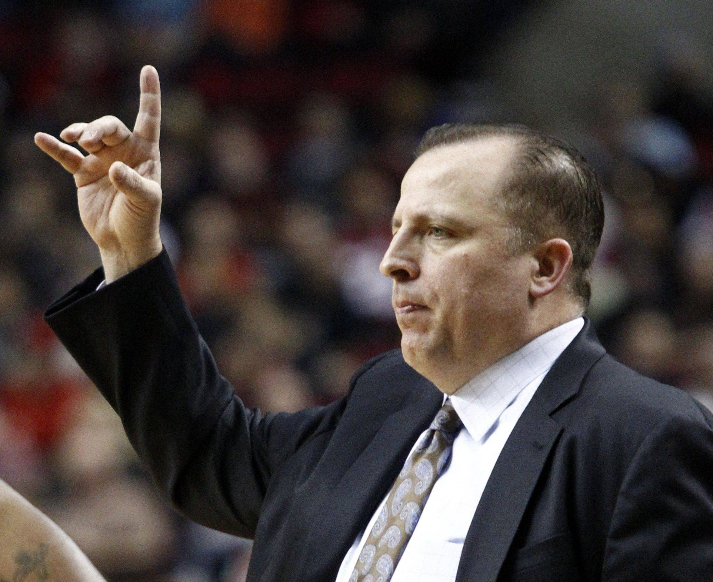 Bulls basketball coach Tom Thibodeau is still trying to find the right combination to play in the fourth quarter.