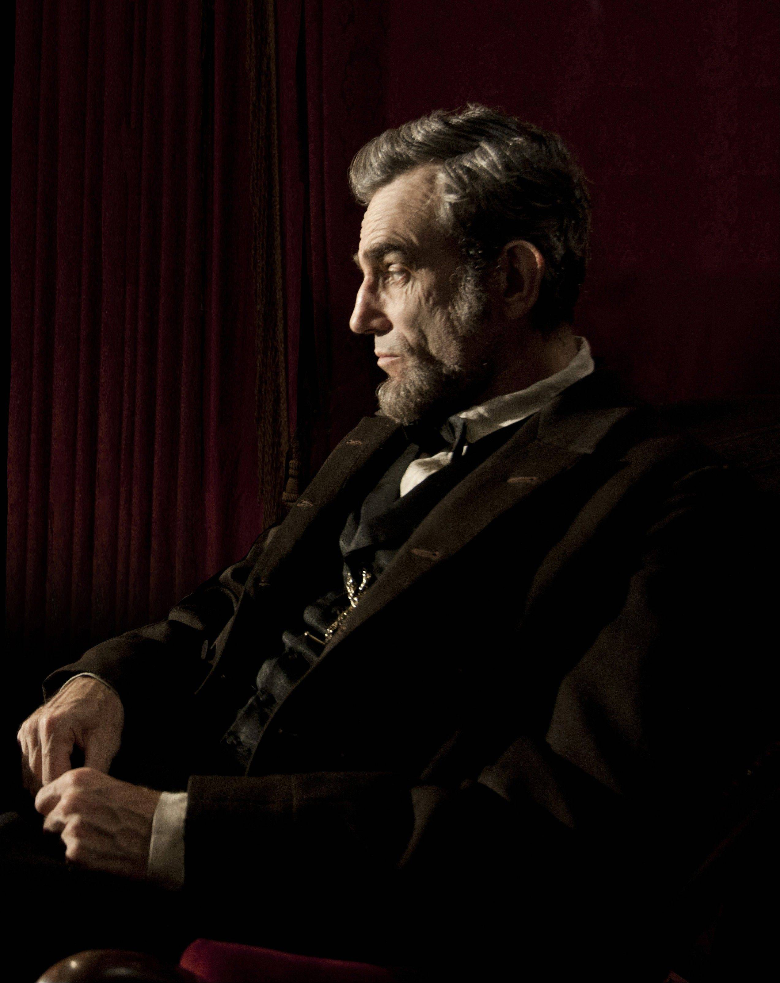 This publicity image shows Daniel Day-Lewis portraying Abraham Lincoln in the film �Lincoln.�