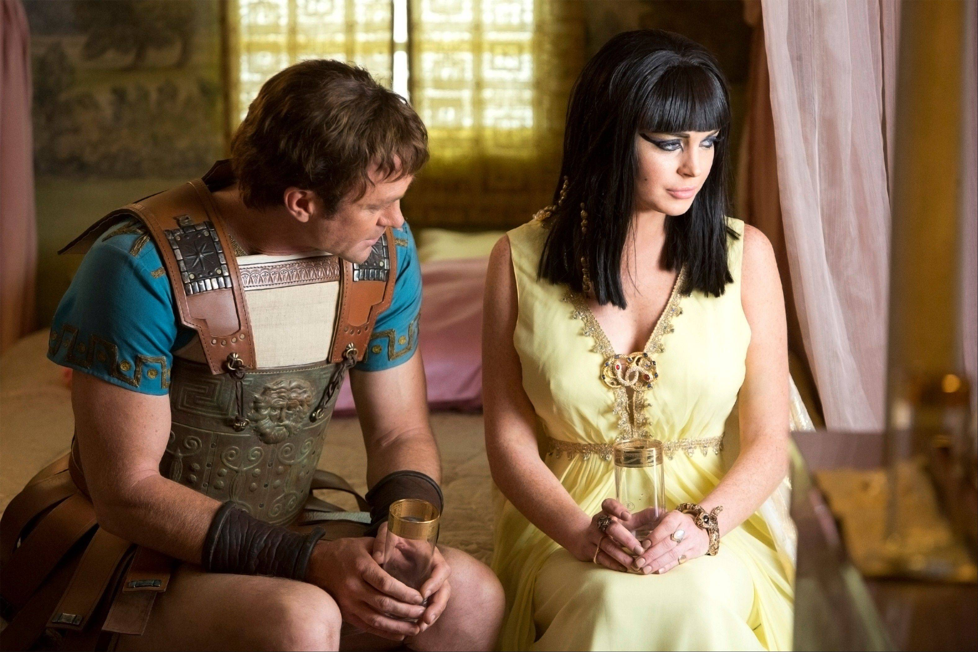 "Grant Bowler as Richard Burton, left, and Lindsay Lohan as Elizabeth Taylor in the Lifetime Original Movie, ""Liz & Dick."""