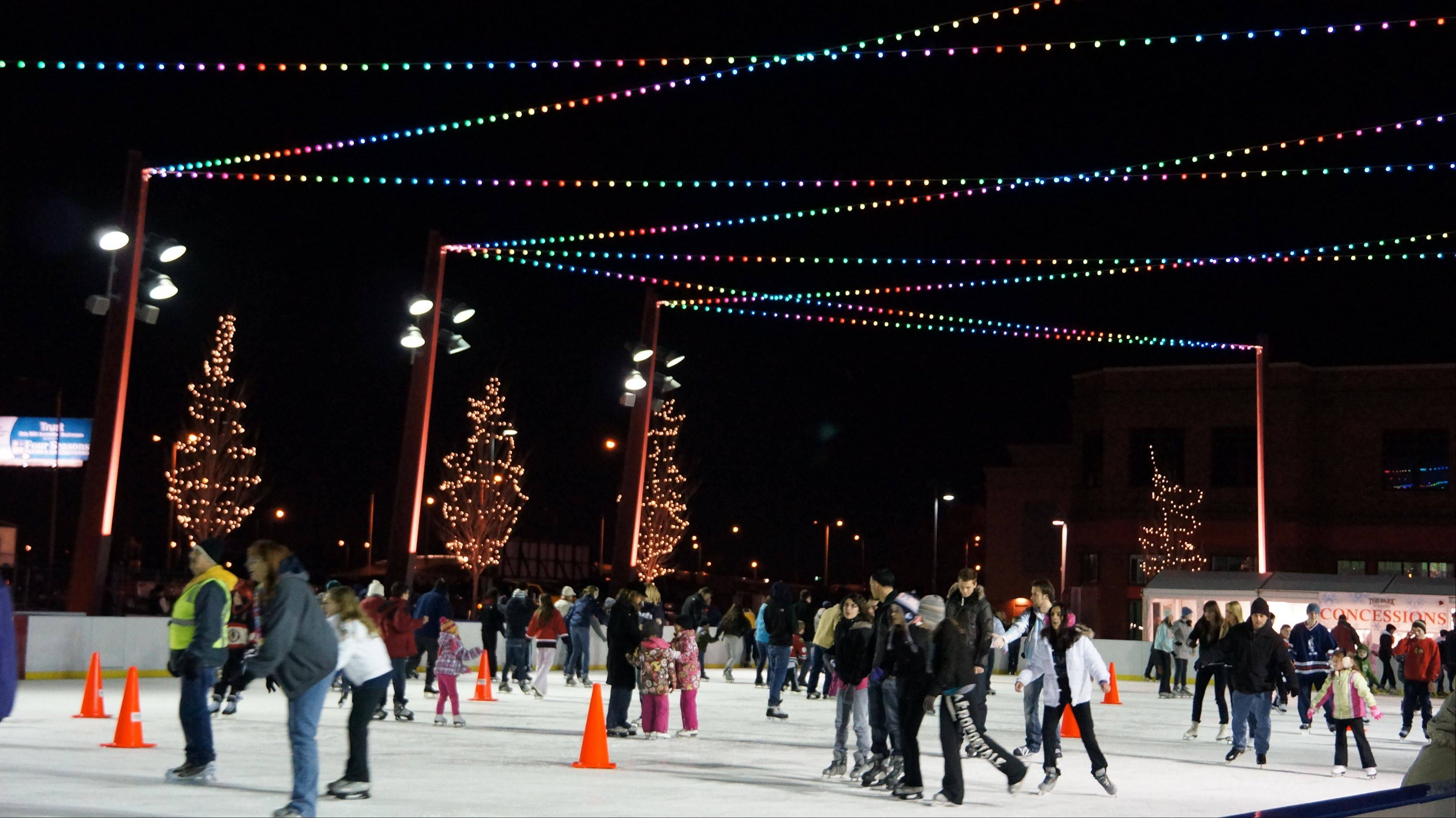 The Park at Rosemont opens its free public skating rink on Friday, Nov. 23.