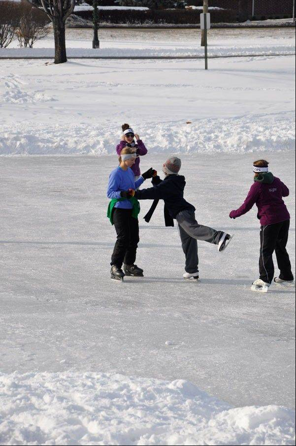 Beginners and experts alike are invited to grab their skates and head to the Turner Pond skating rink in Roselle.