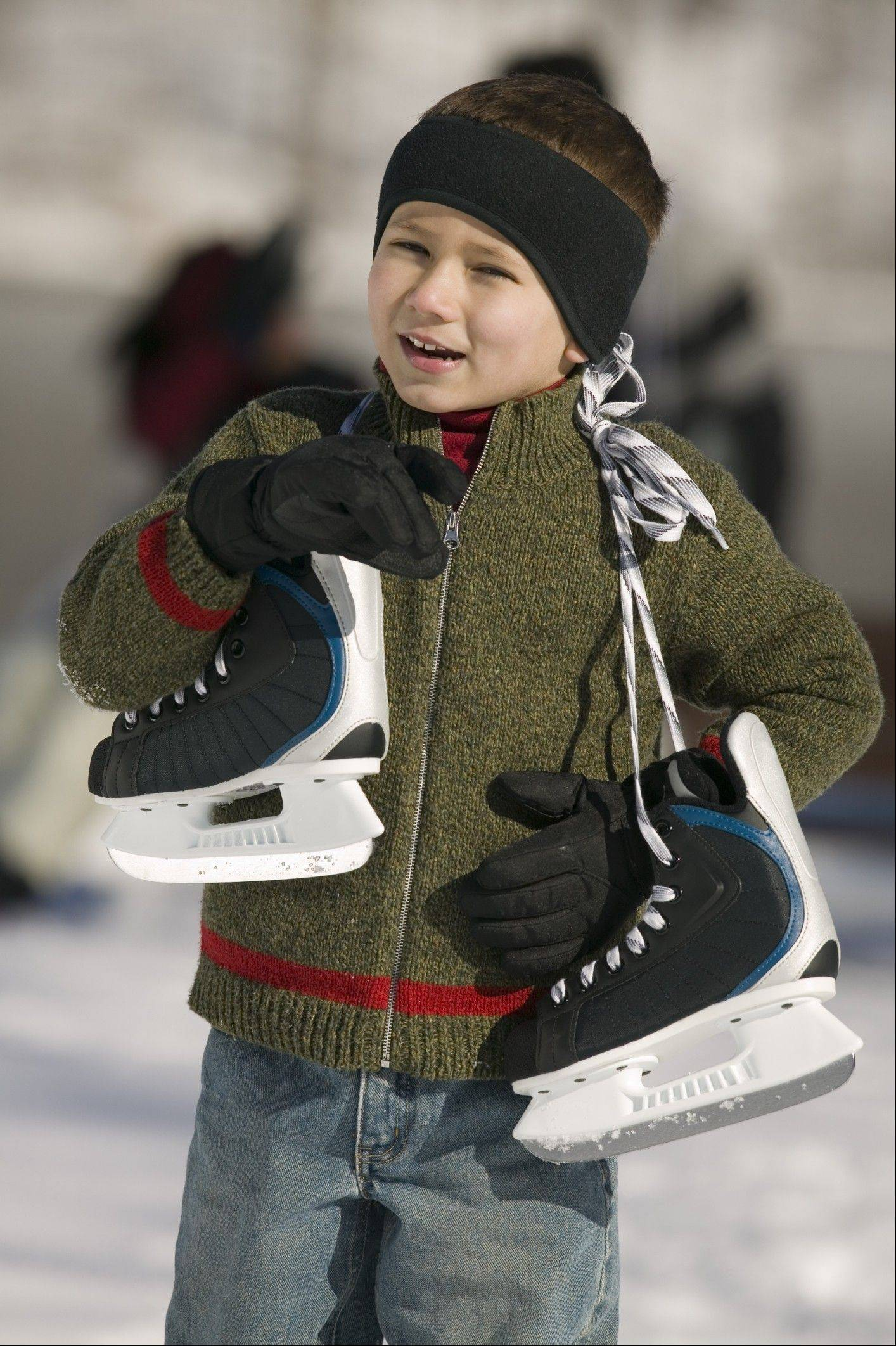 Chillier weather beckons skaters to grab their skates and head for local outdoor ice skating rinks.