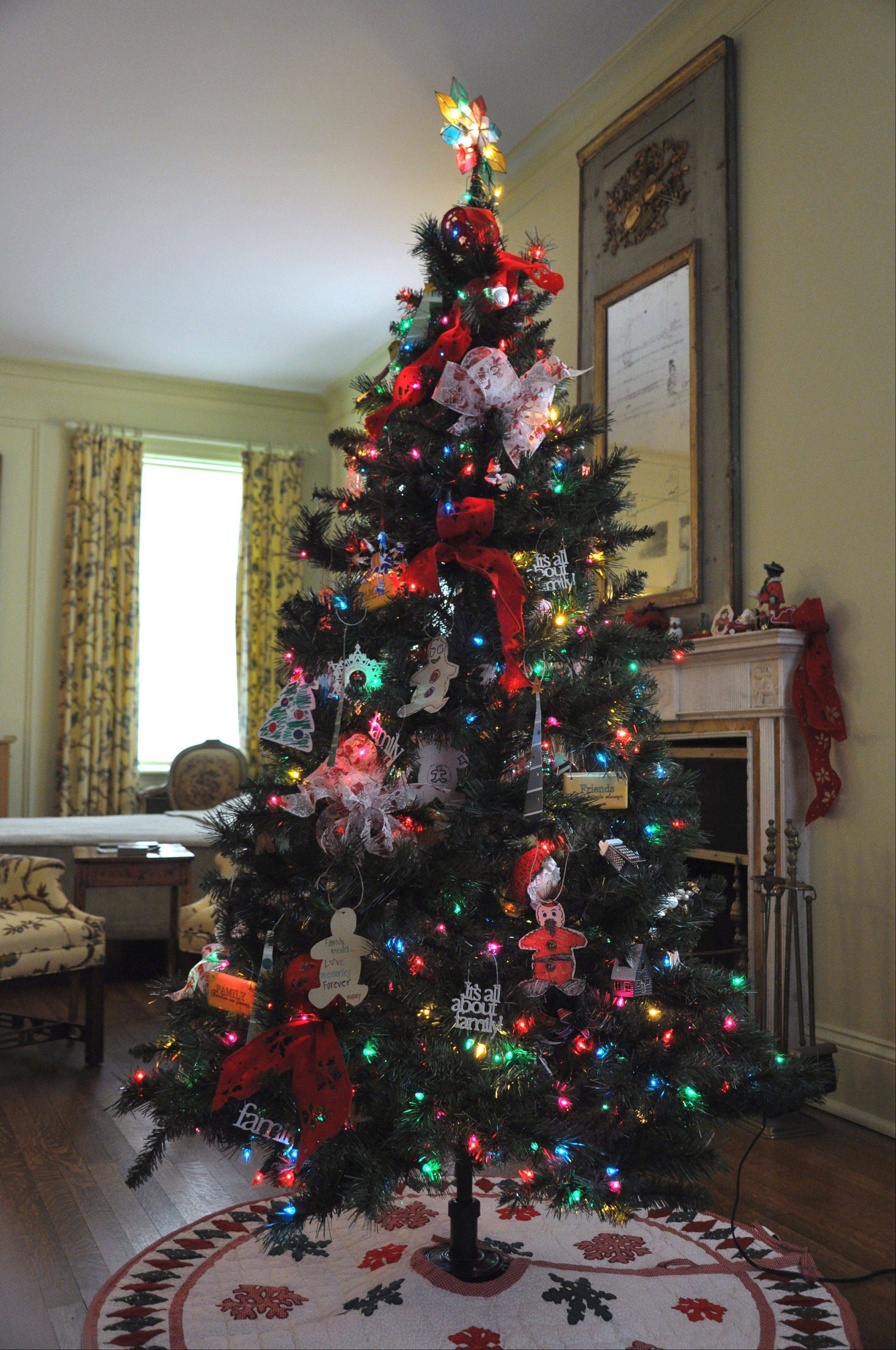 This tree decorated by Metropolitan Family Services is part of the Community Tree display this year.