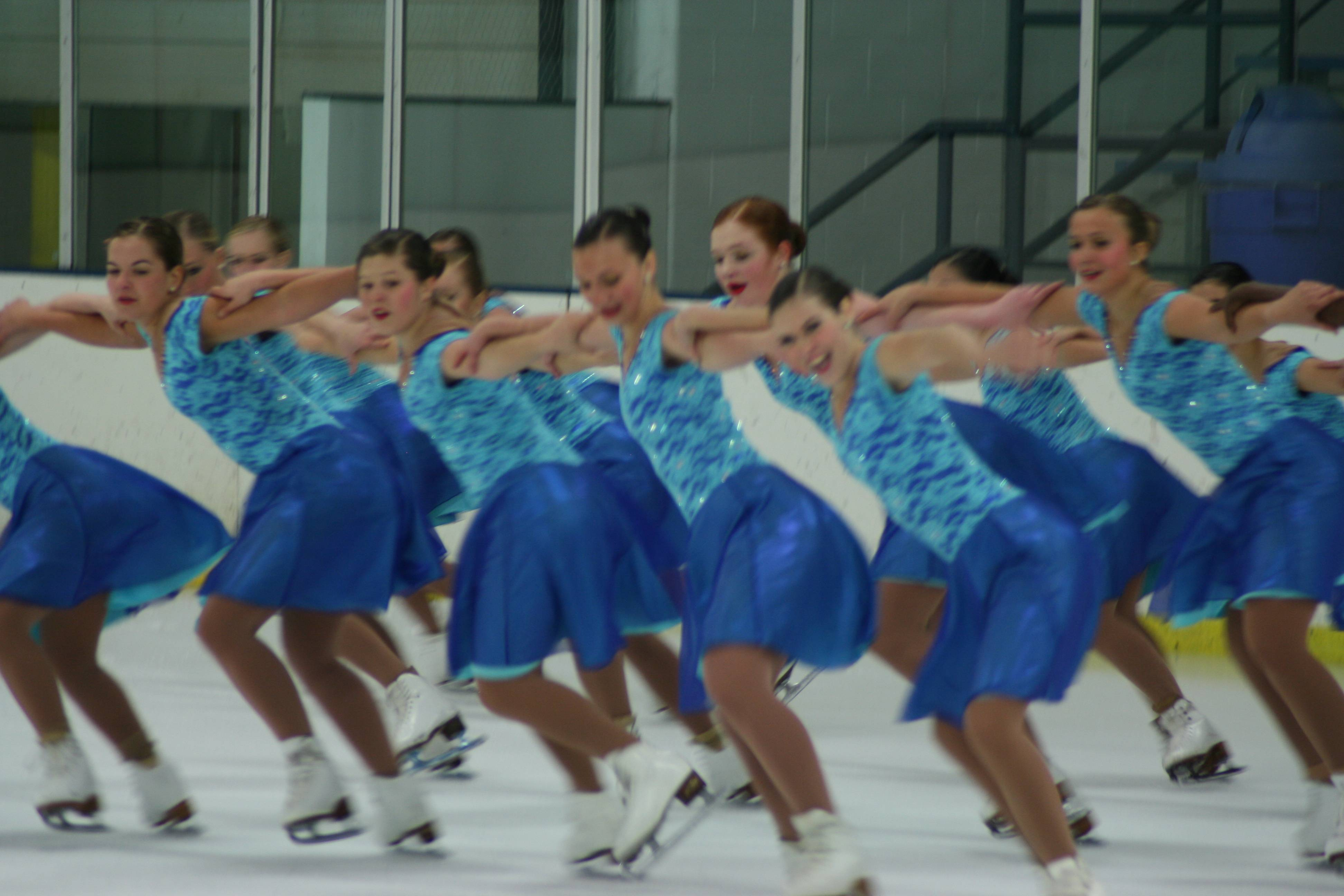 The Senior Team performs at the Starlights November exhibition in Buffalo Grove.