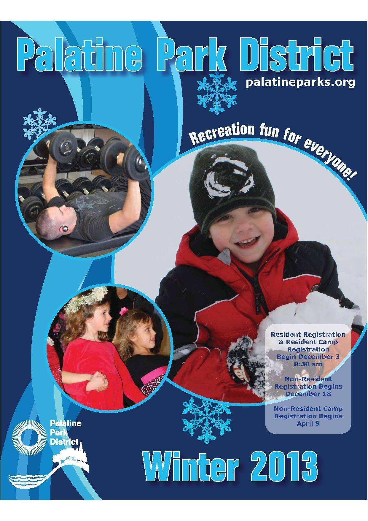 Residents of the Palatine Park District should be on the look out for the winter catalog in their mailboxes beginning Nov. 30. The catalog includes 76 pages of winter programs, activities and special events.
