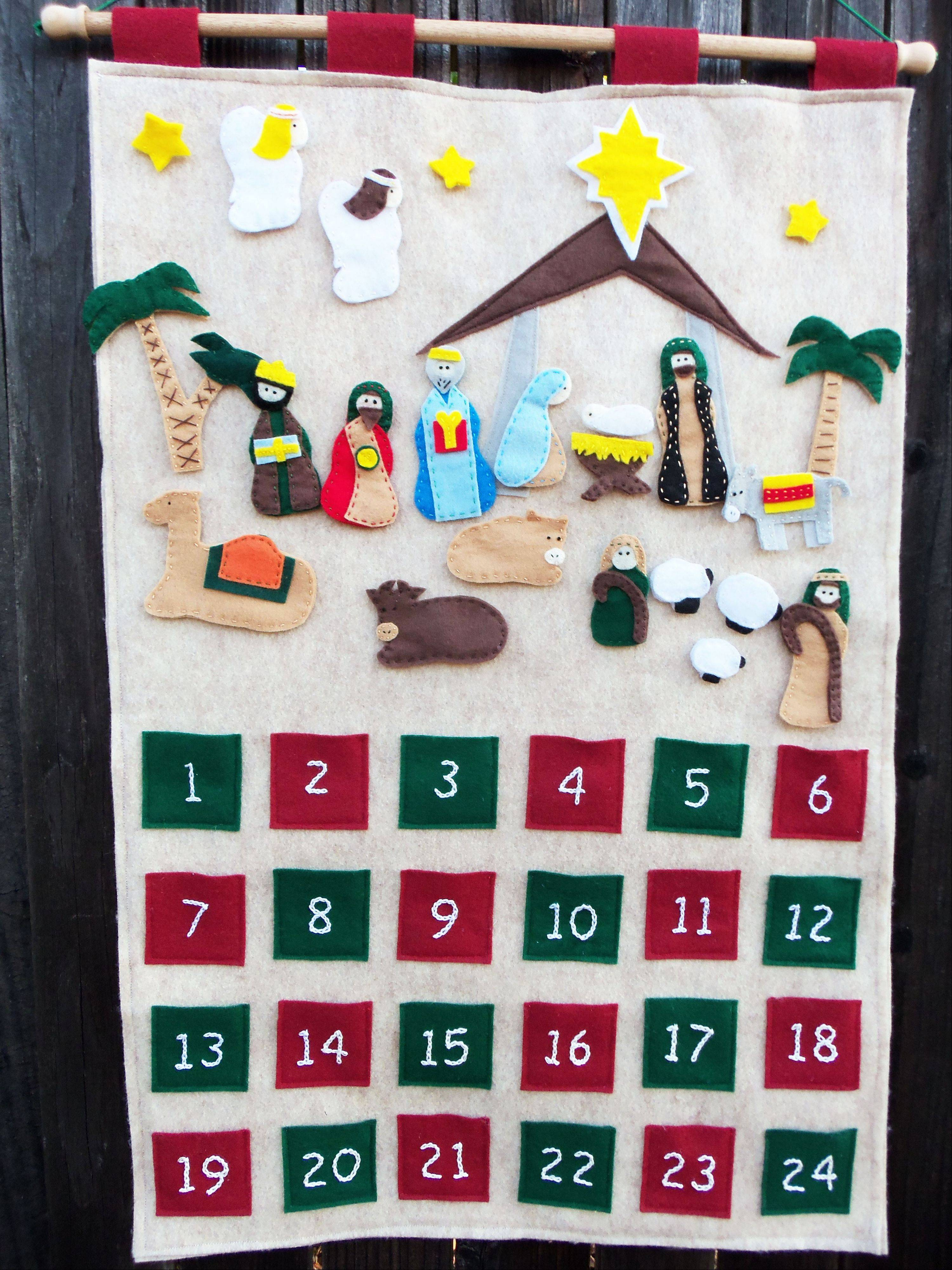 "Jessica Anderson, of Rancho Cordova, Calif., feels that advent calendars promote family bonding. ""I feel with the advent calendar, it's something they will remember when they grow up,"" says Anderson, who blogs at Cutesy Crafts."