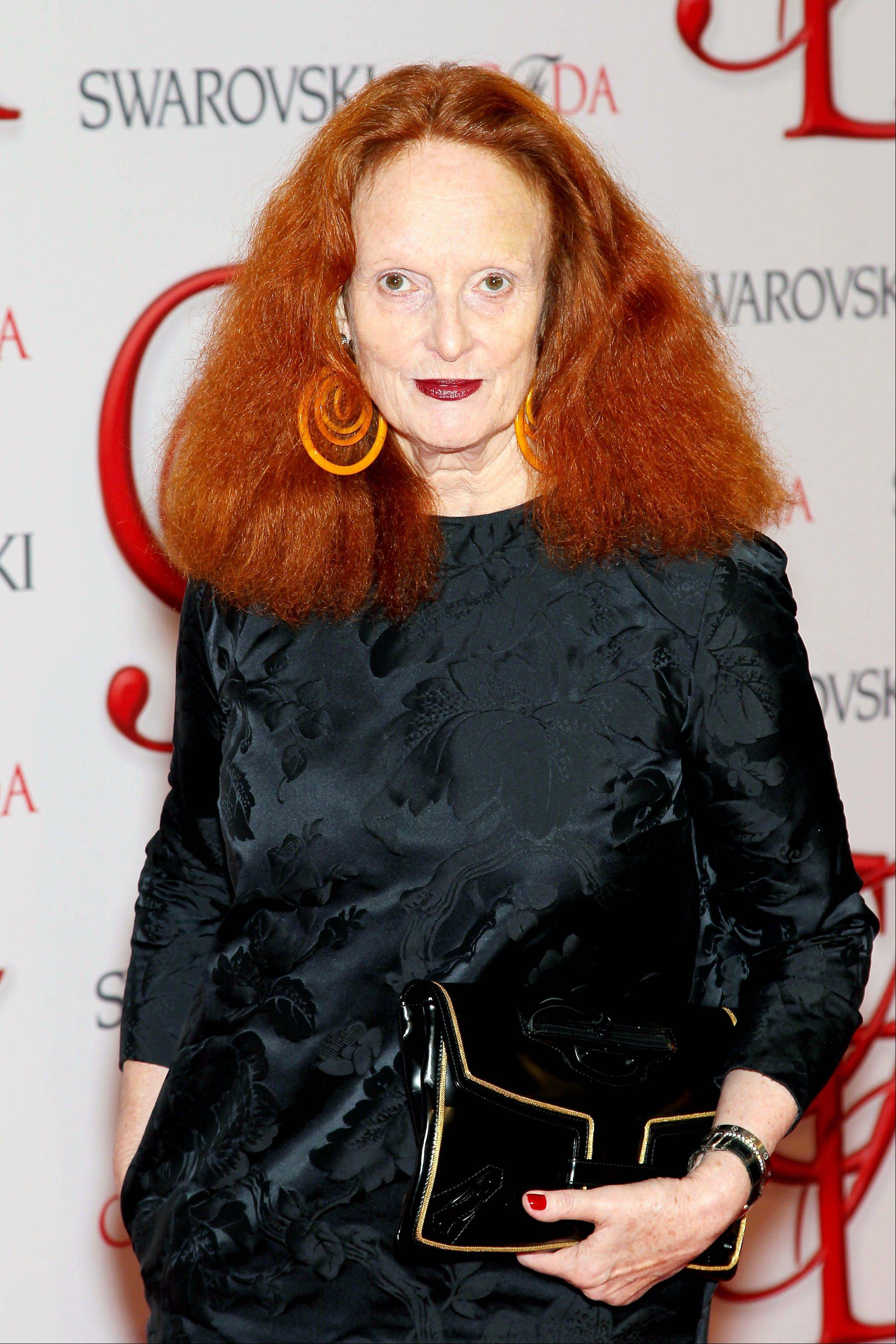 "Vogue stylist and former model Grace Coddington at the 2012 CFDA Fashion Awards at Alice Tully Hall in New York. Coddington is the author of a book titled, ""Grace: A Memoir."""