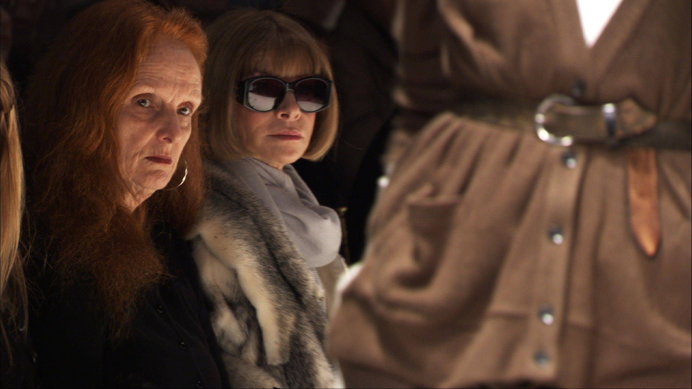 "Grace Coddington, left, and Anna Wintour, Vogue's Editor-in-Chief, in ""The September Issue"", a film by RJ Cutler."
